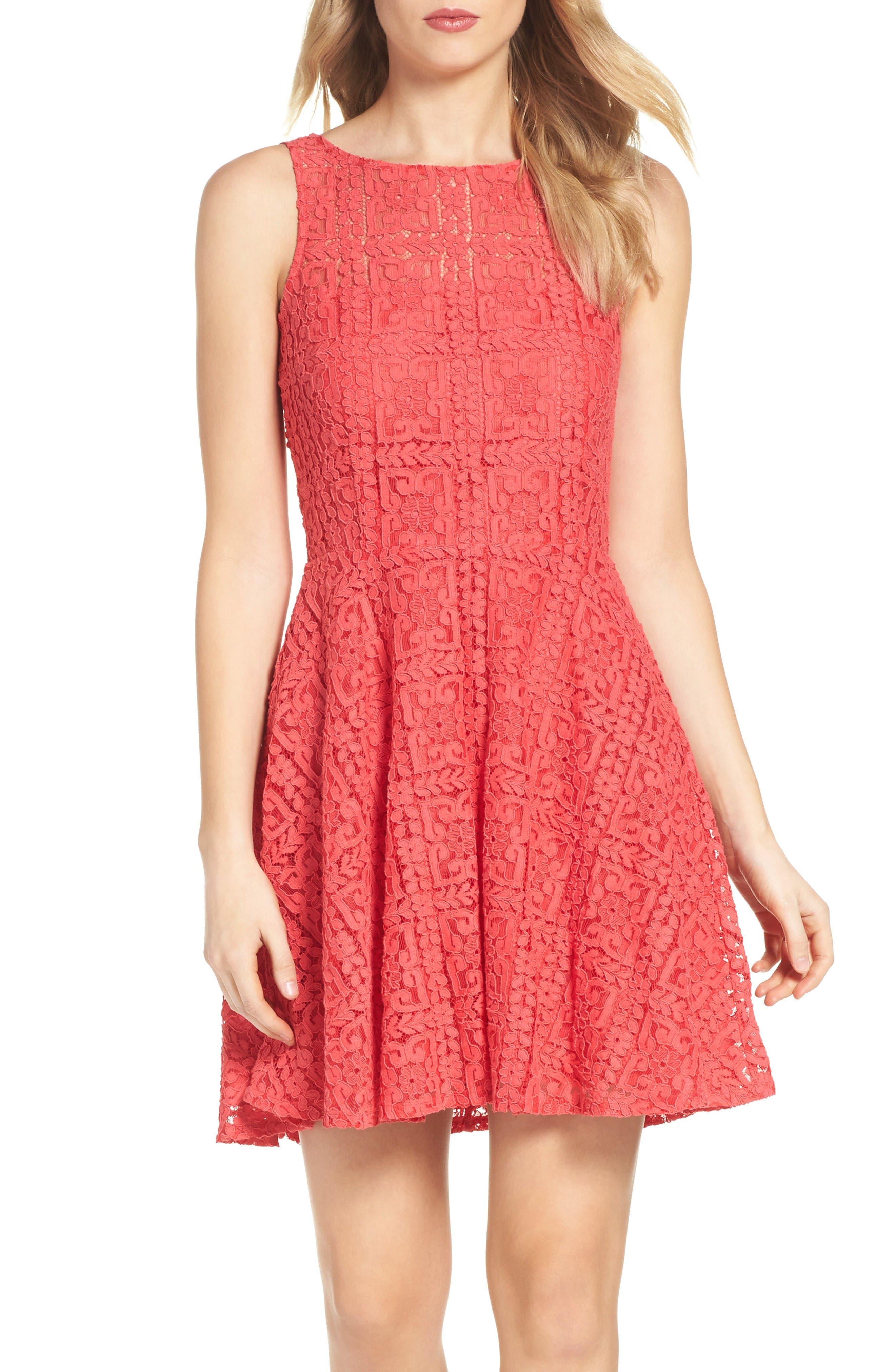 Alternate Image 4  - BB Dakota Paloma Lace Fit & Flare Dress