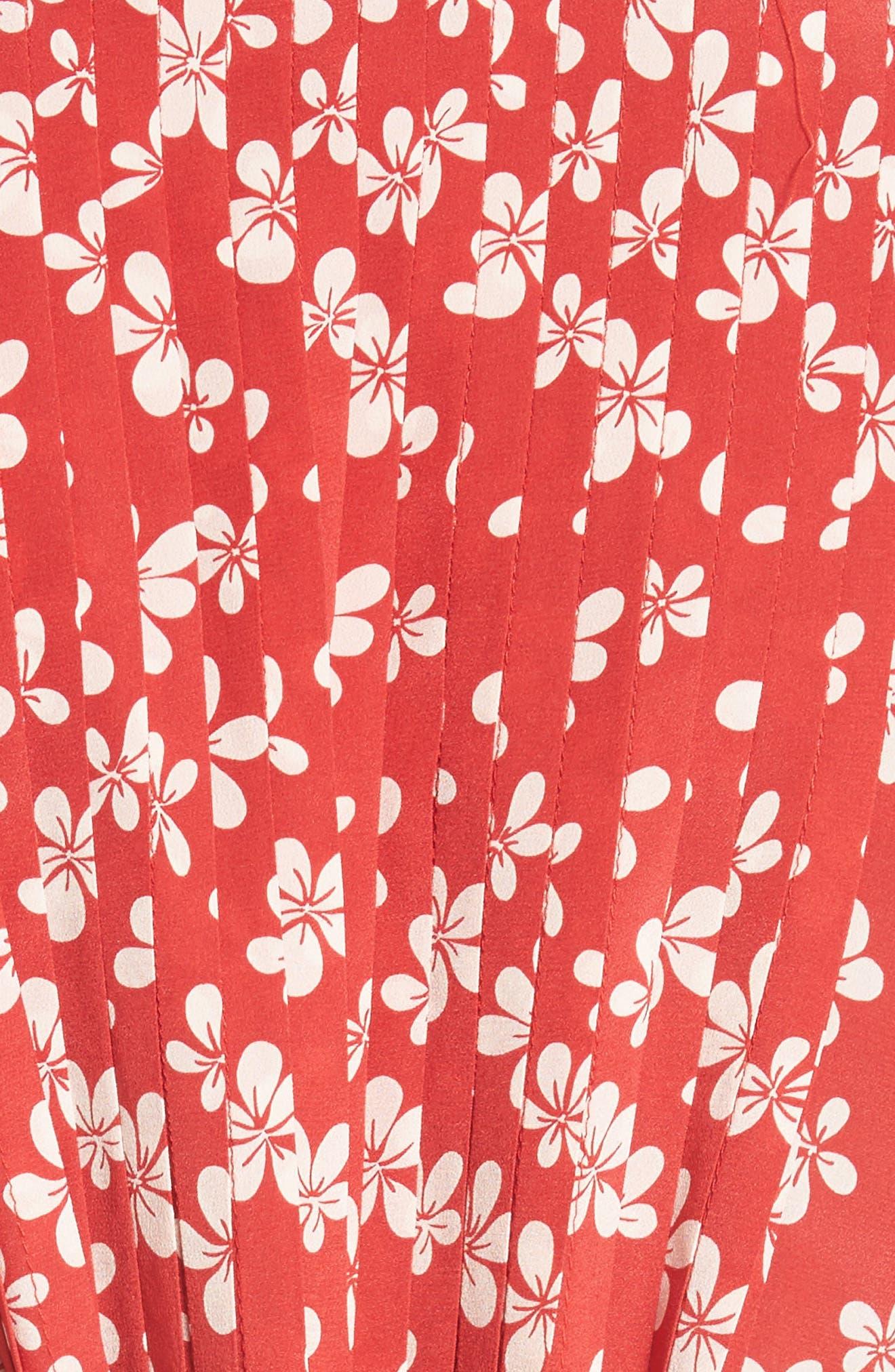 Alternate Image 5  - The Kooples Floral Print Silk Dress