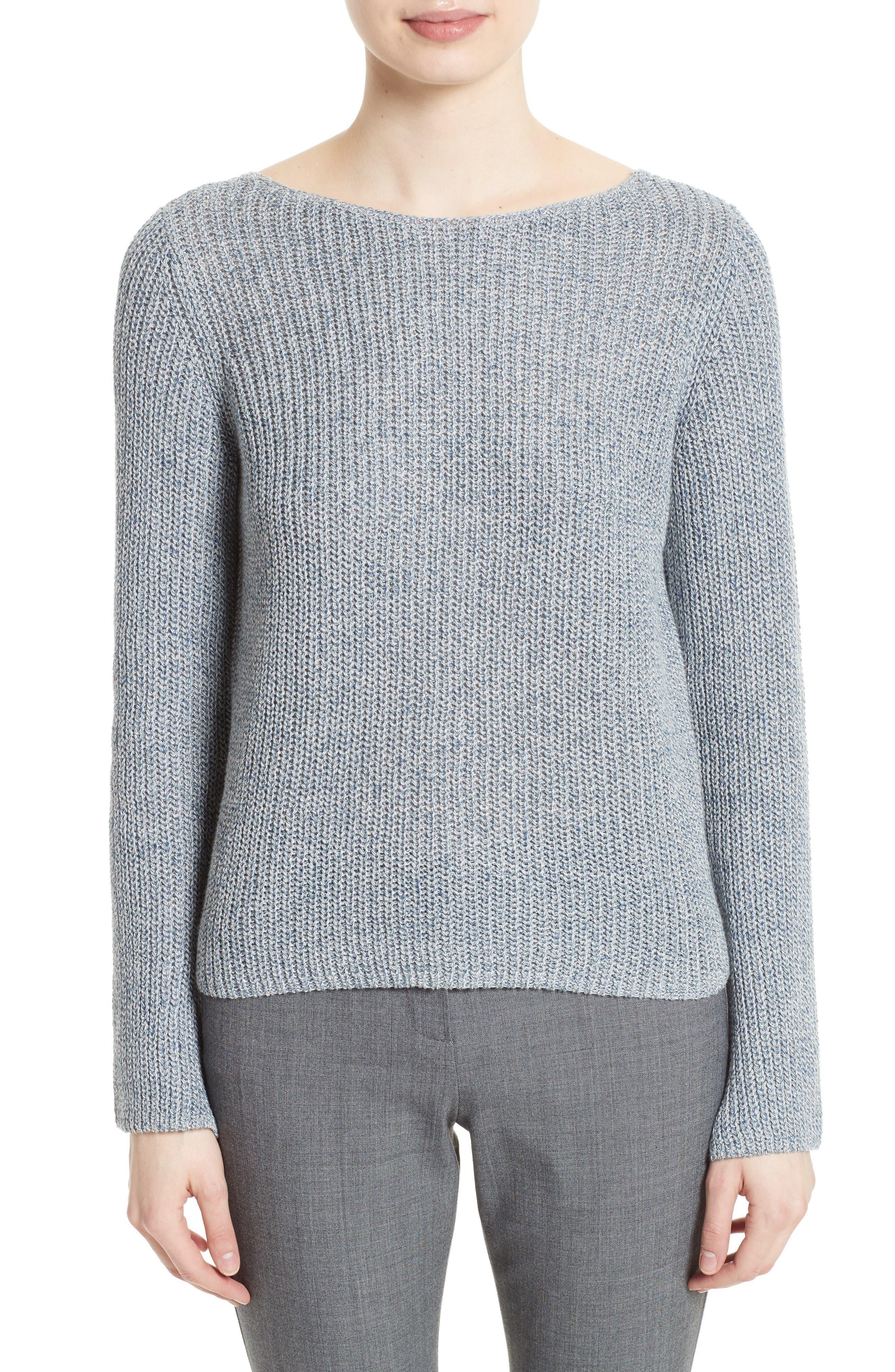 Theory Lalora Linen & Cotton Sweater