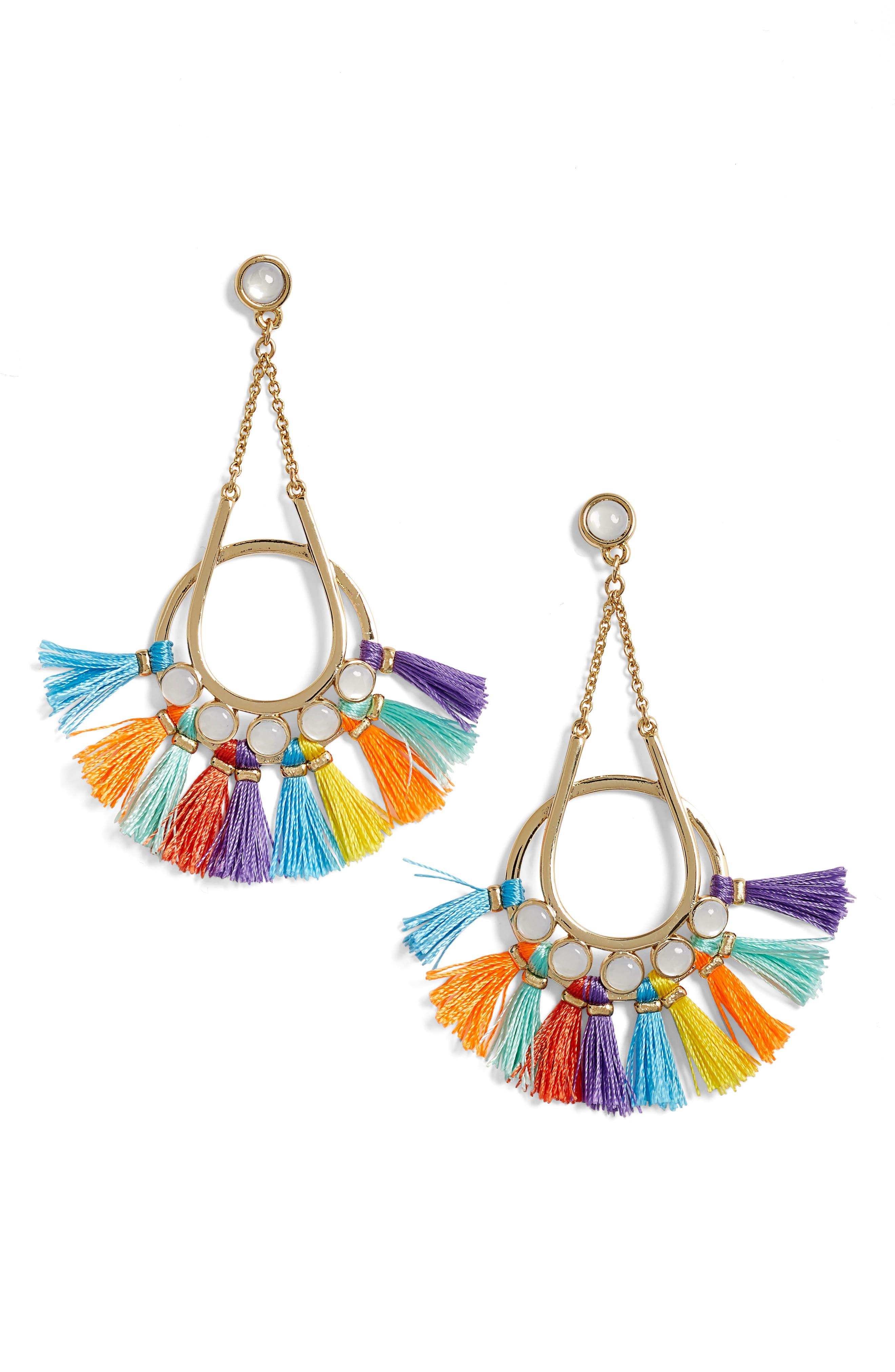 Alternate Image 1 Selected - Rebecca Minkoff Utopia Tassel Chandelier Earrings