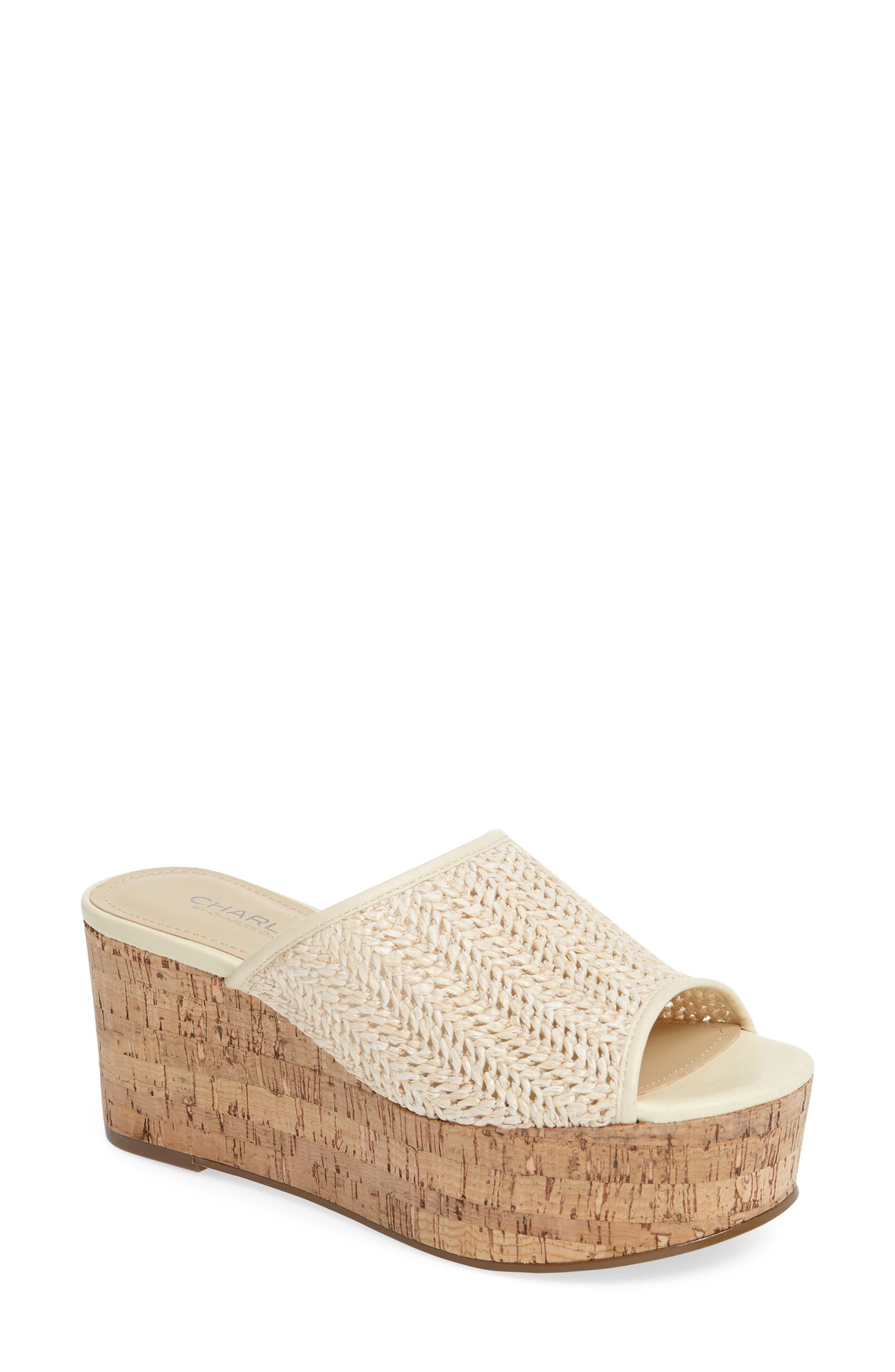 Charles by Charles David Crisp Platform Wedge Sandal (Women)