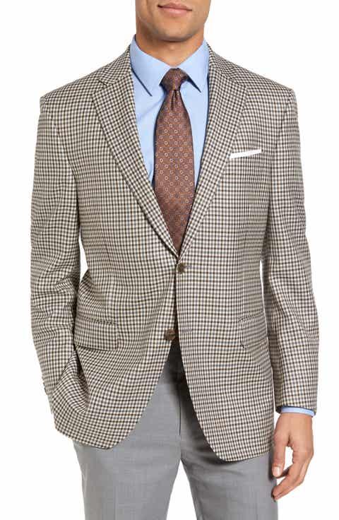 Peter Millar Classic Fit Check Wool Sport Coat