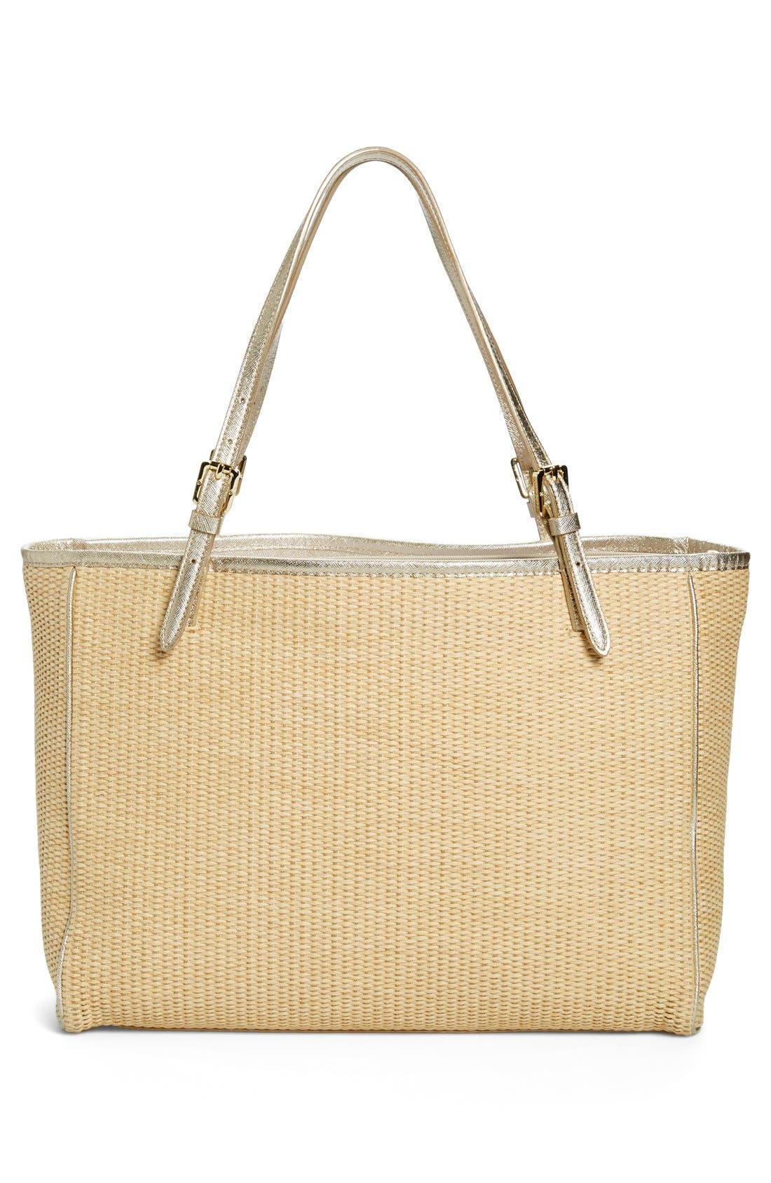 Alternate Image 3  - Tory Burch 'York' Straw Buckle Tote