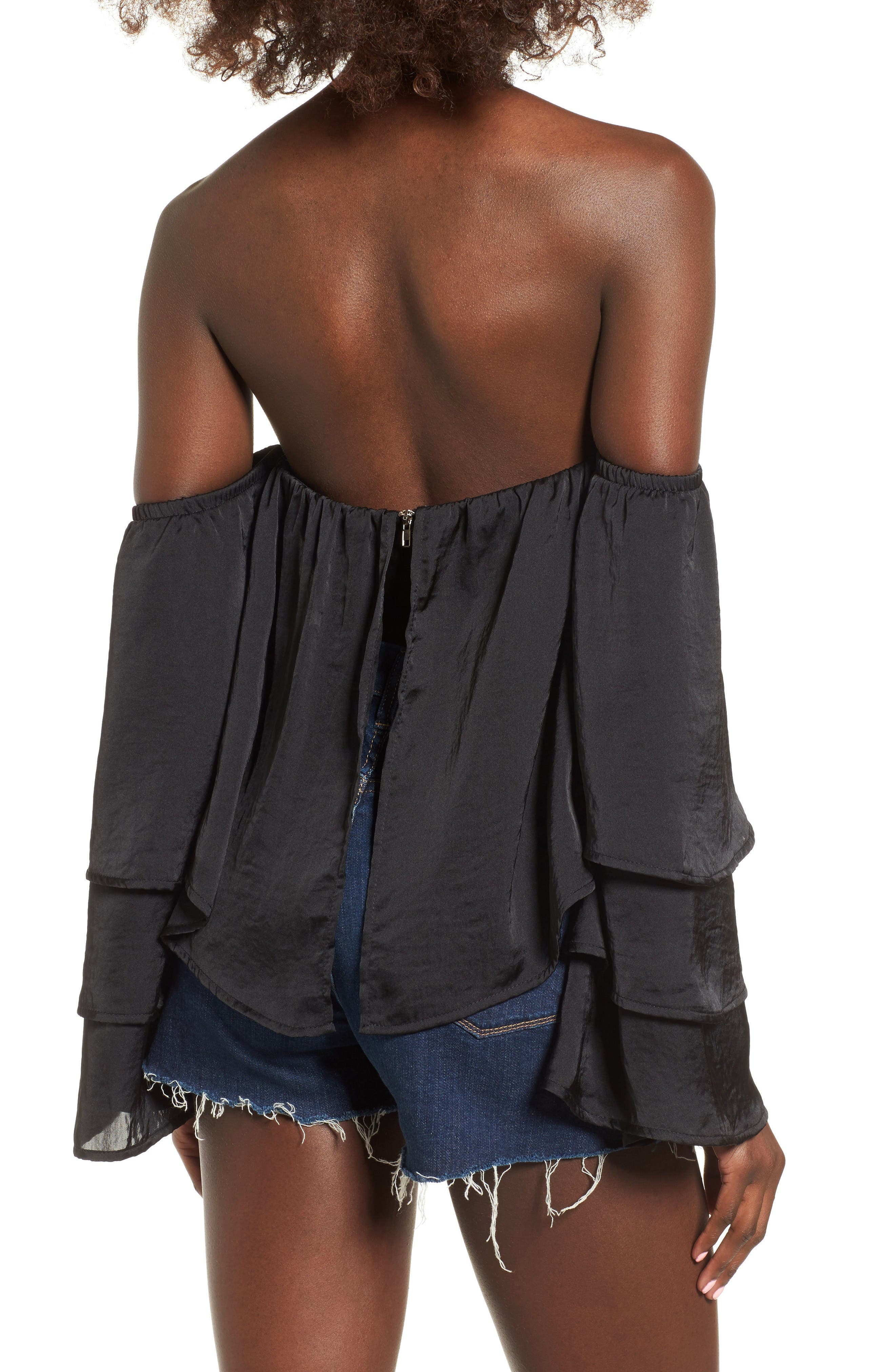 Alternate Image 2  - 4SI3NNA Ruffle Off the Shoulder Top