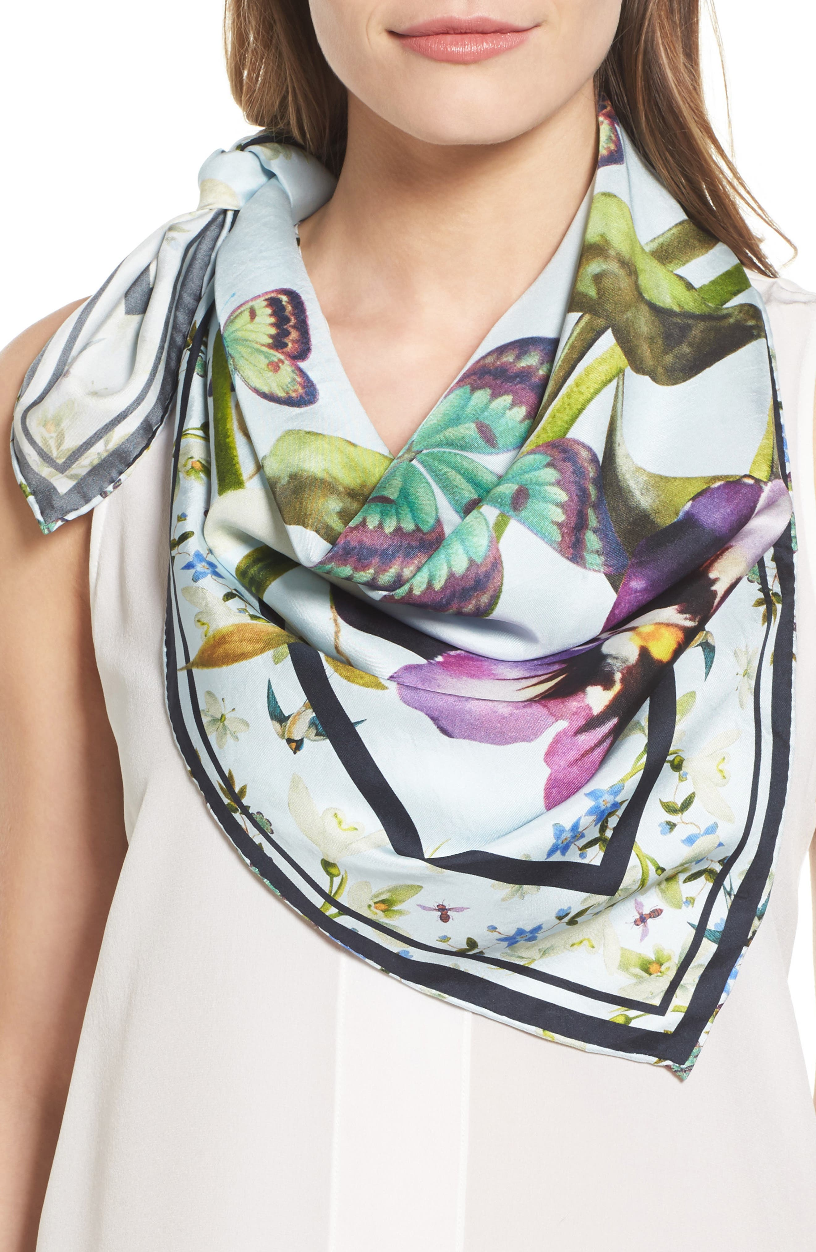 Ted Baker London Evella Entangled Enchantment Square Silk Scarf