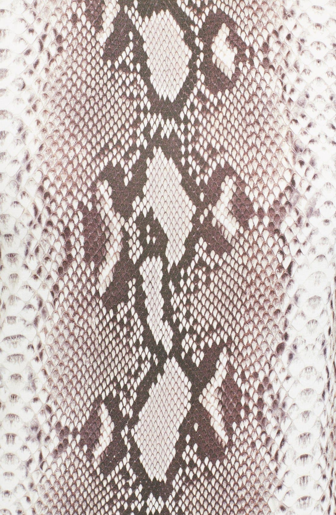 Alternate Image 3  - Carven Snakeskin Print Jersey T-Shirt Dress