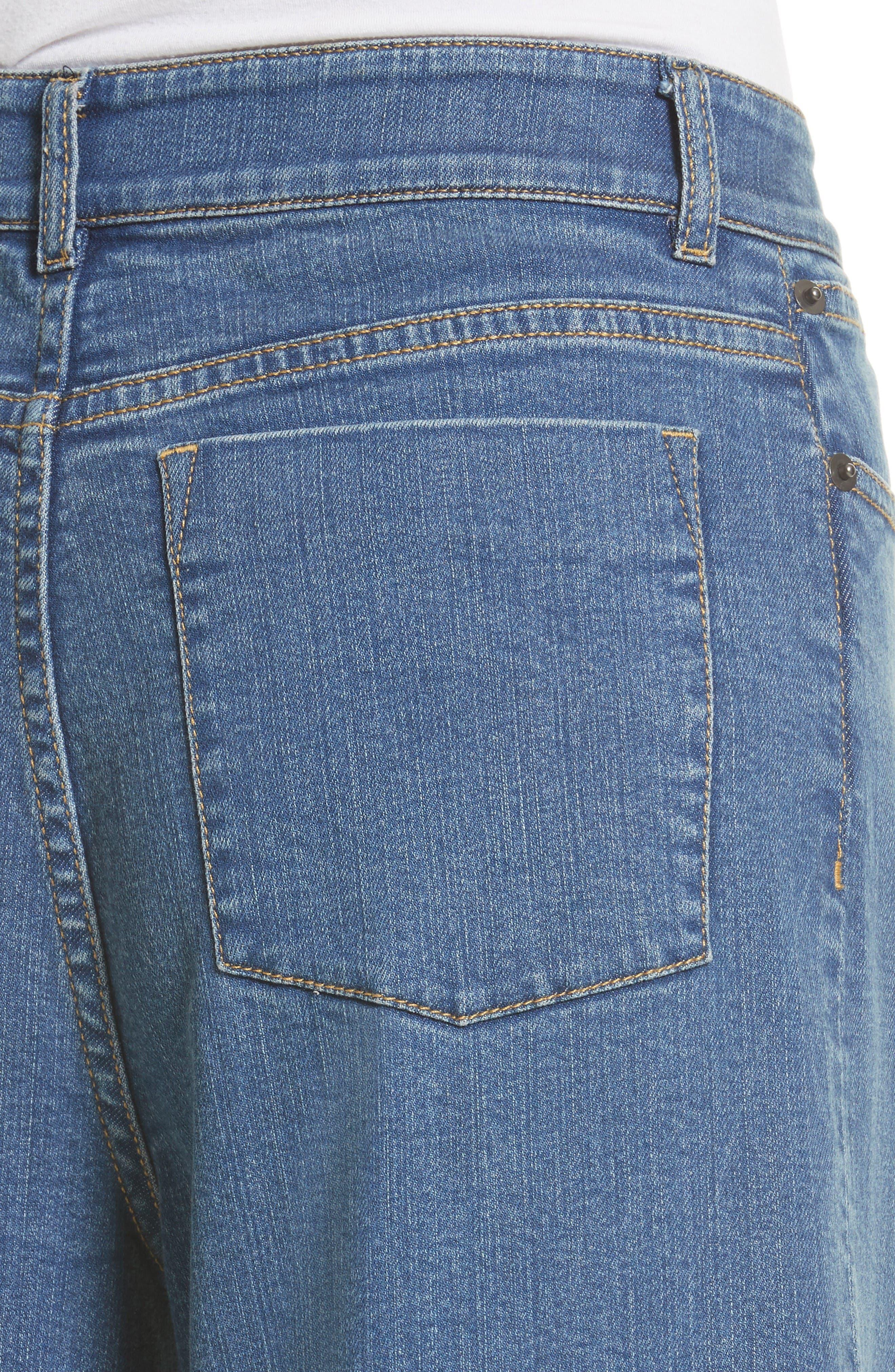 Alternate Image 3  - Alice + Olivia Beta Embellished Wide Leg Crop Jeans