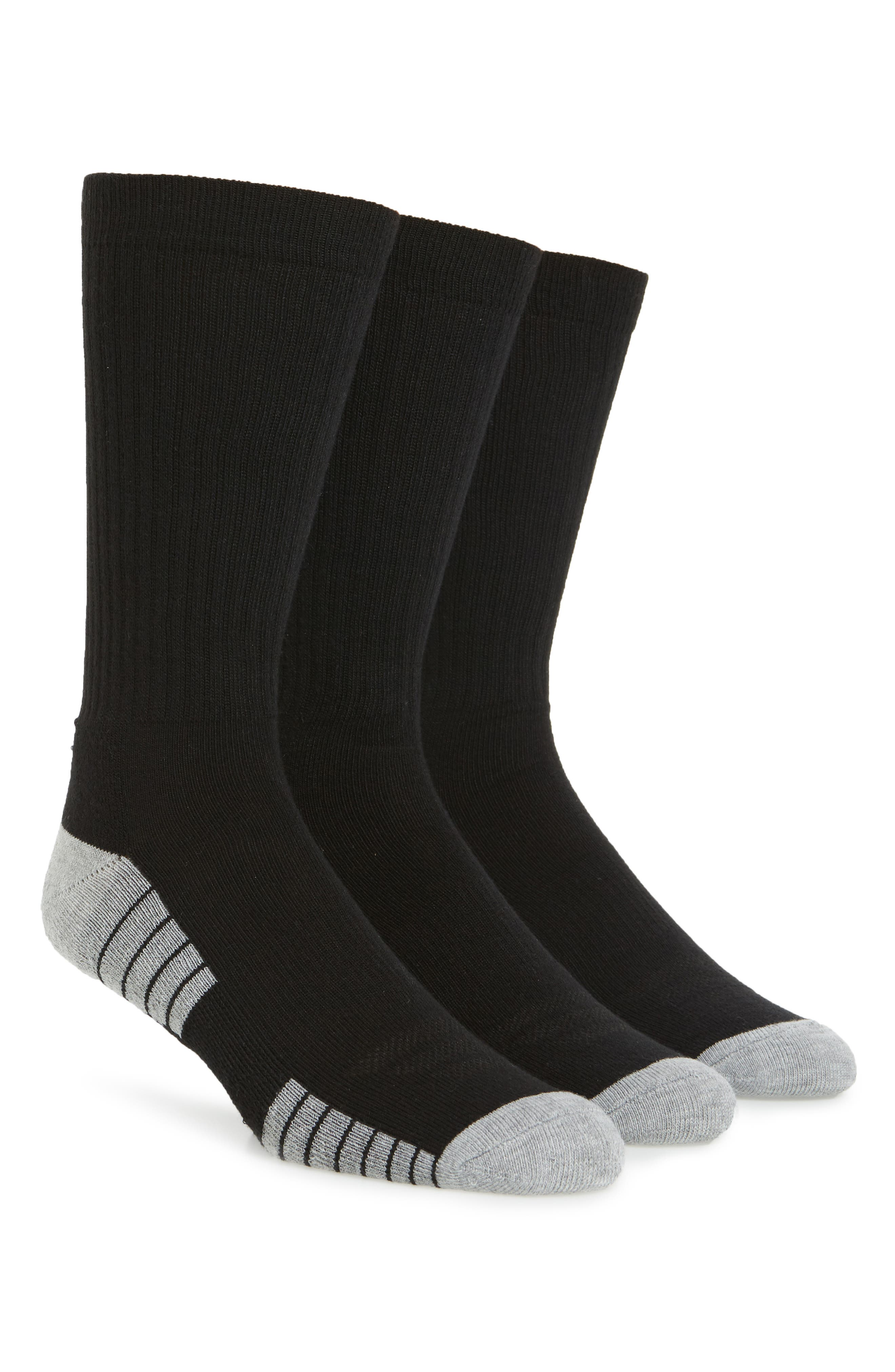 Under Armour HeatGear 3-Pack Crew Socks