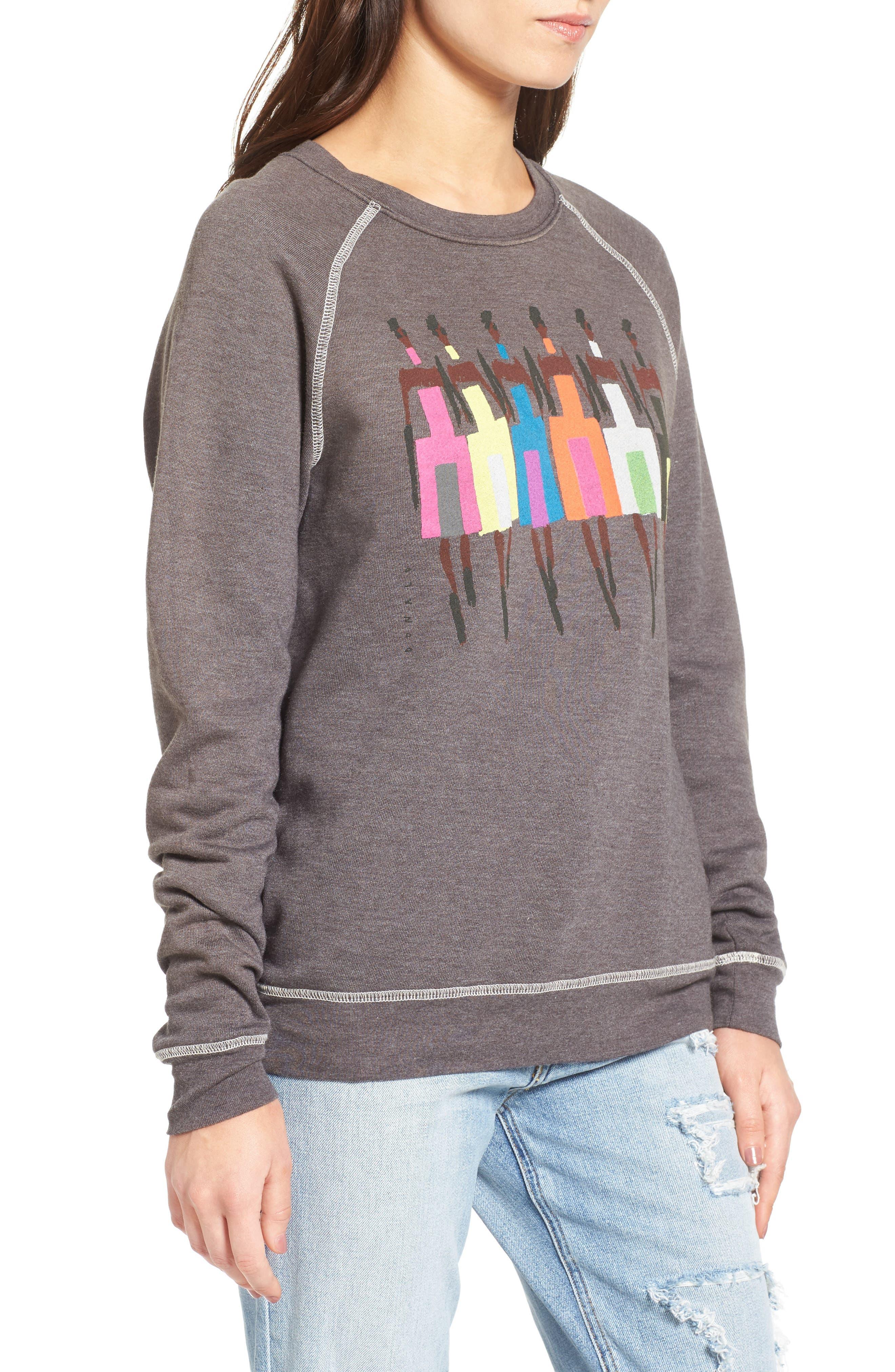 Alternate Image 3  - Junk Food Donald Robertson Girls Sweatshirt