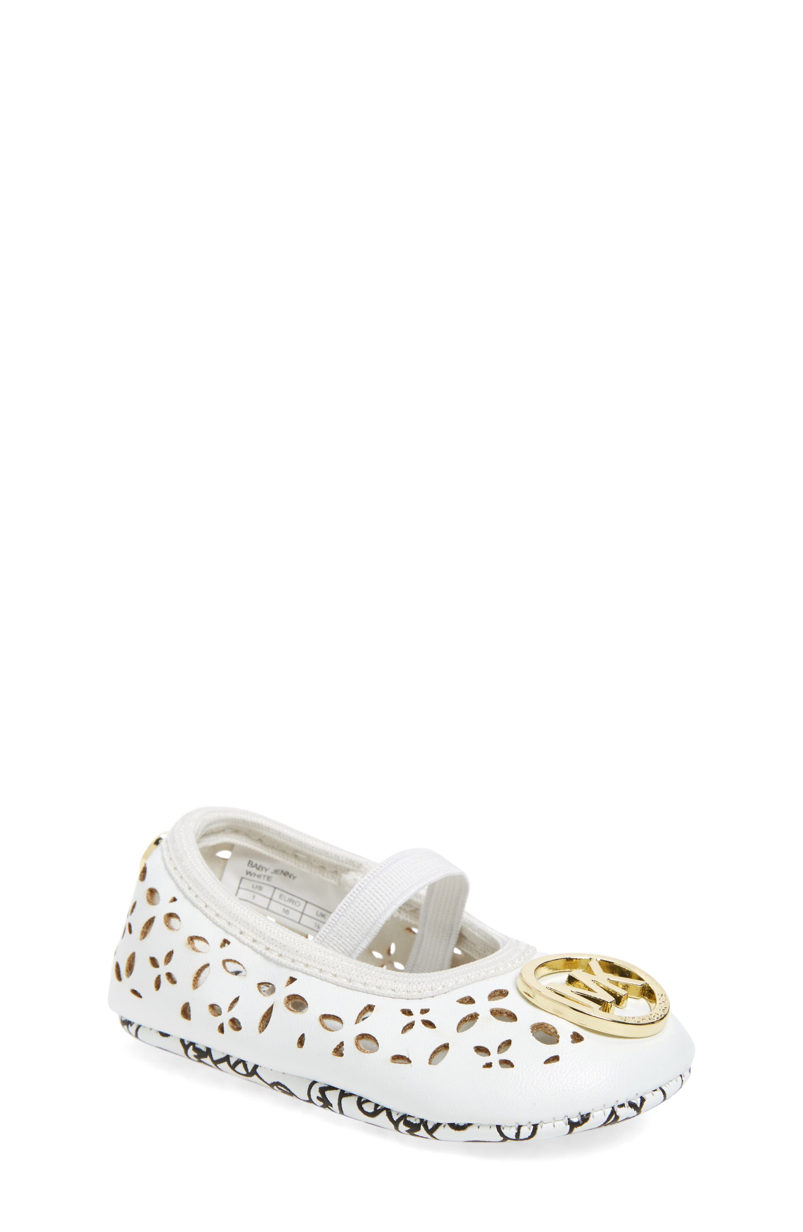MICHAEL Michael Kors Jenny Perforated Crib Shoe (Baby)