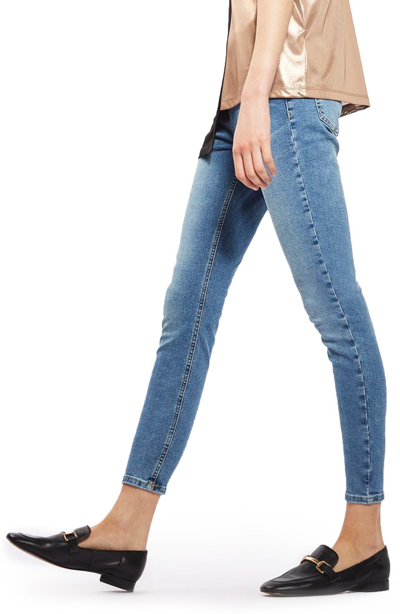 Alternate Image 4  - Topshop Jamie High Waist Skinny Jeans (Petite)