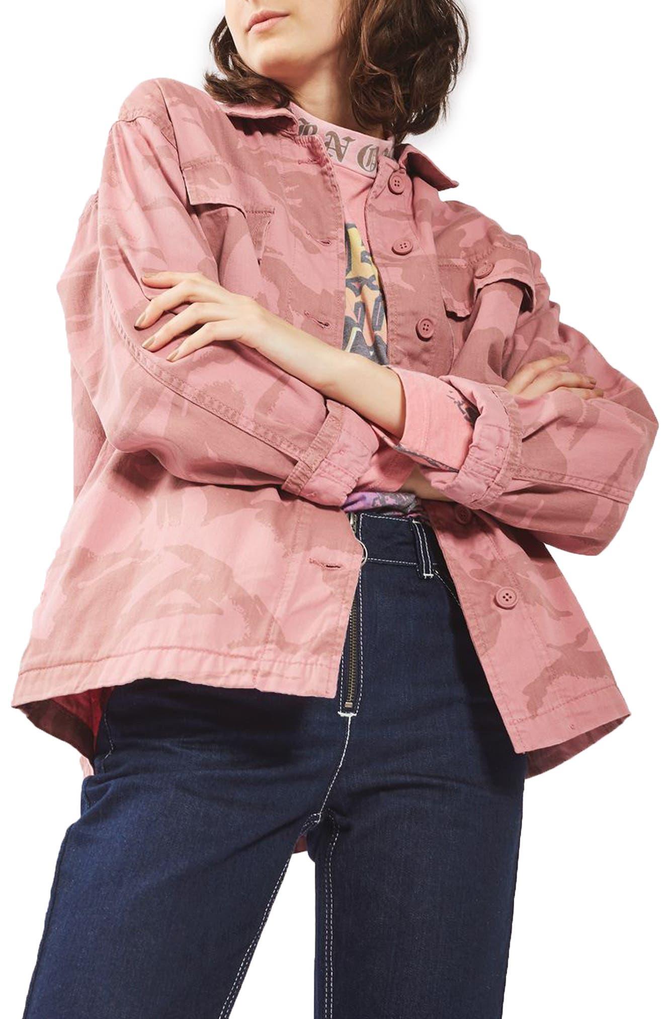 Topshop Camo Army Jacket