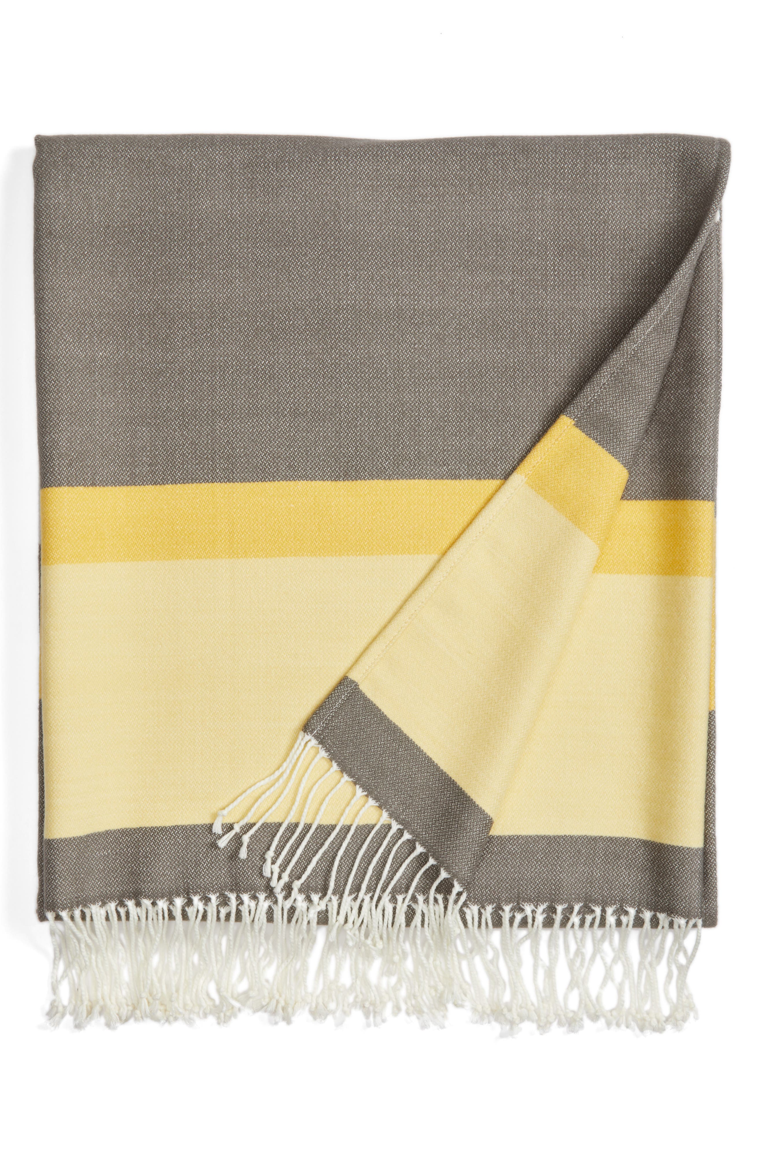 Alternate Image 1 Selected - Nordstrom at Home Bold Stripe Throw Blanket