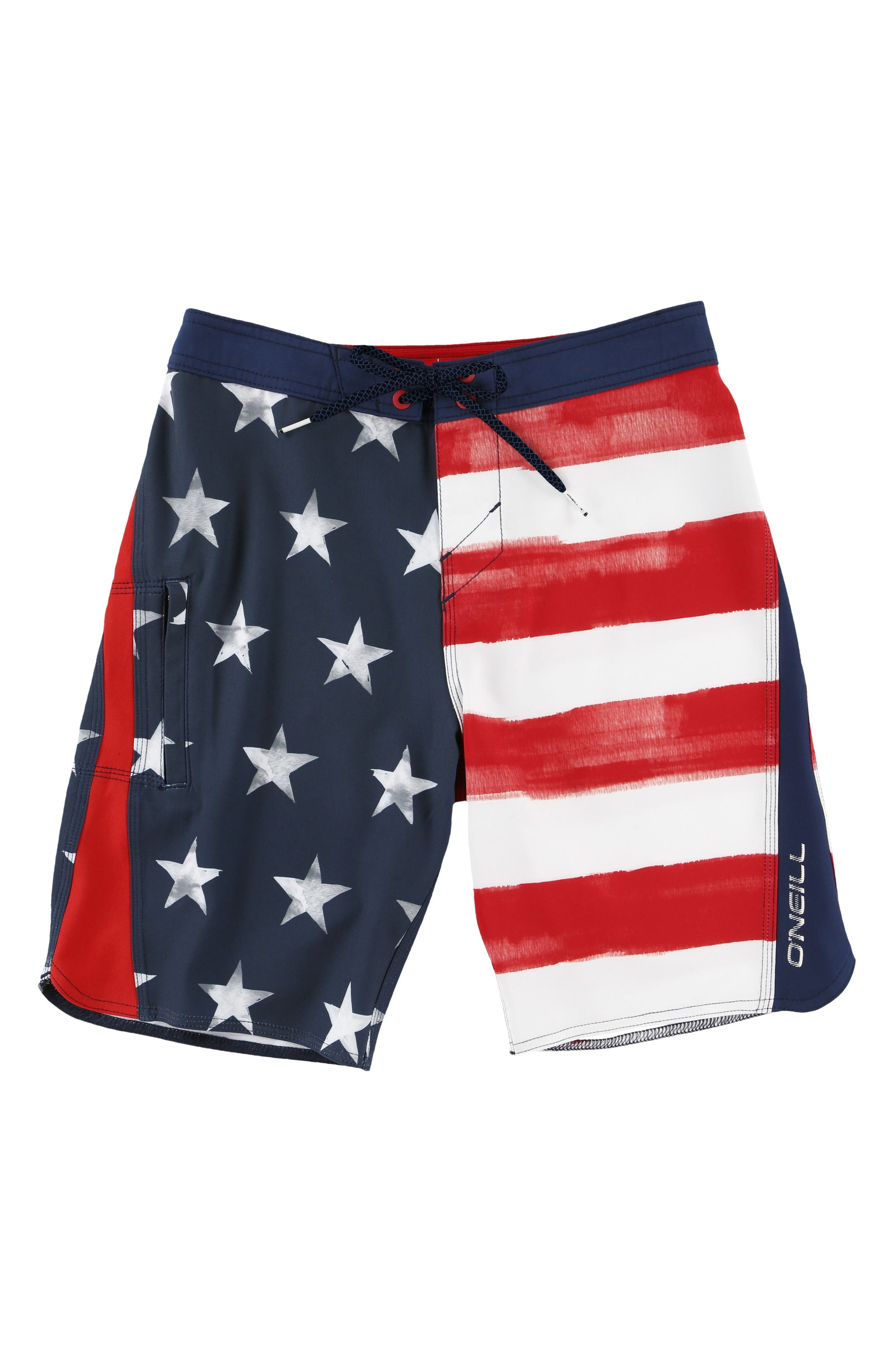 O'Neill Sneakyfreak Scallop Board Shorts (Toddler Boys, Little Boys & Big Boys)