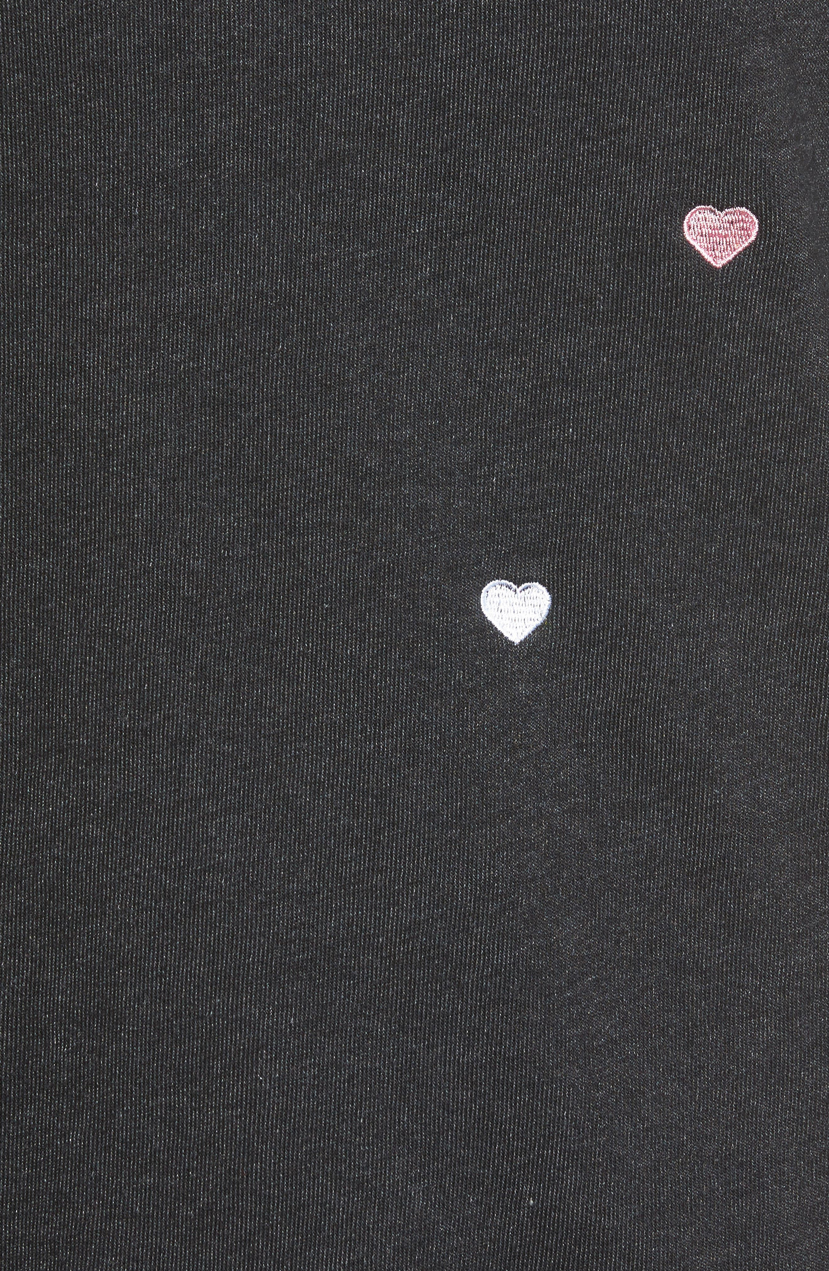 Alternate Image 6  - Wildfox Sommers Sweater - Heart Embroidered Pullover