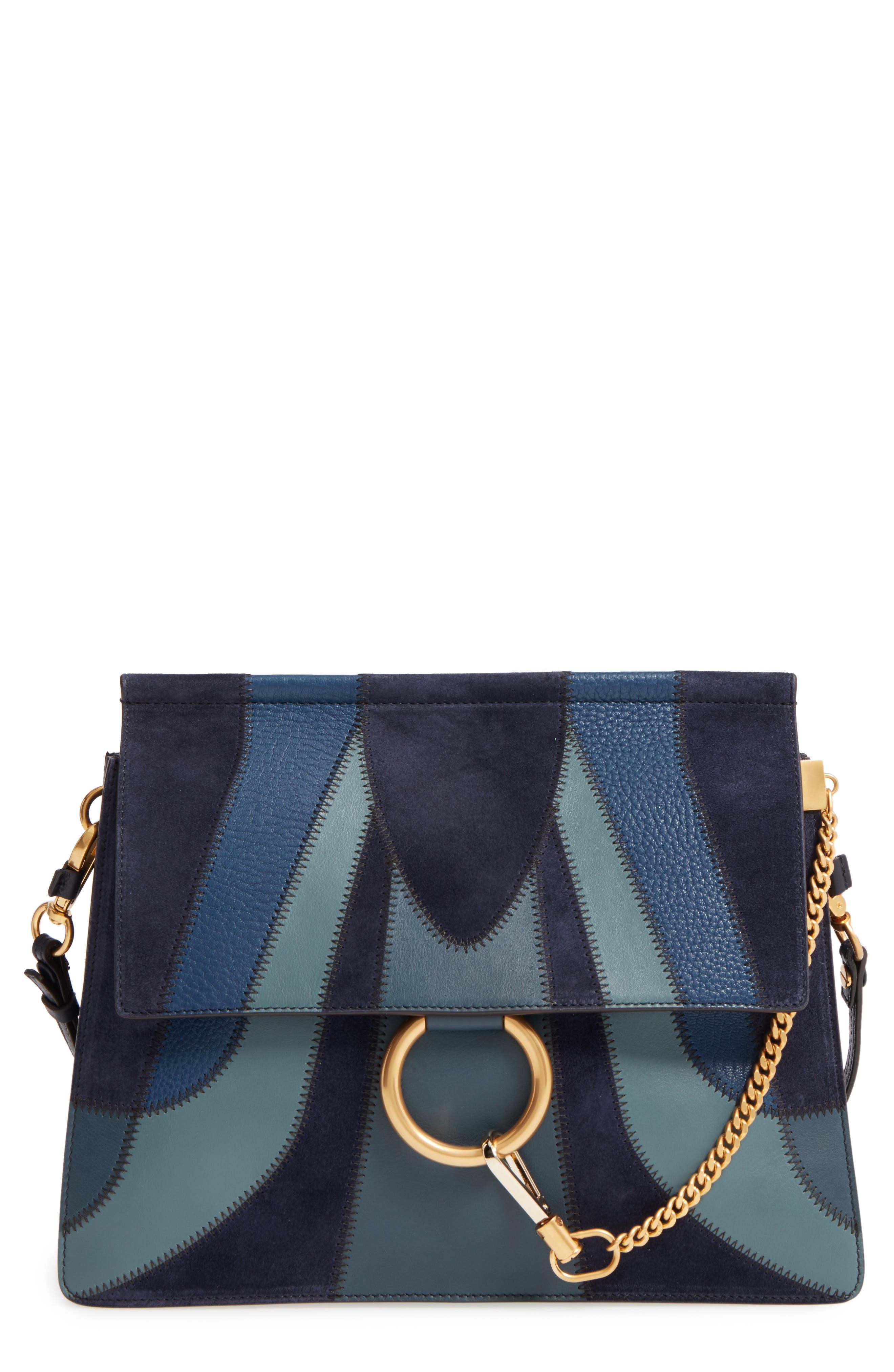Main Image - Chloé Medium Faye Patchwork Leather Shoulder Bag