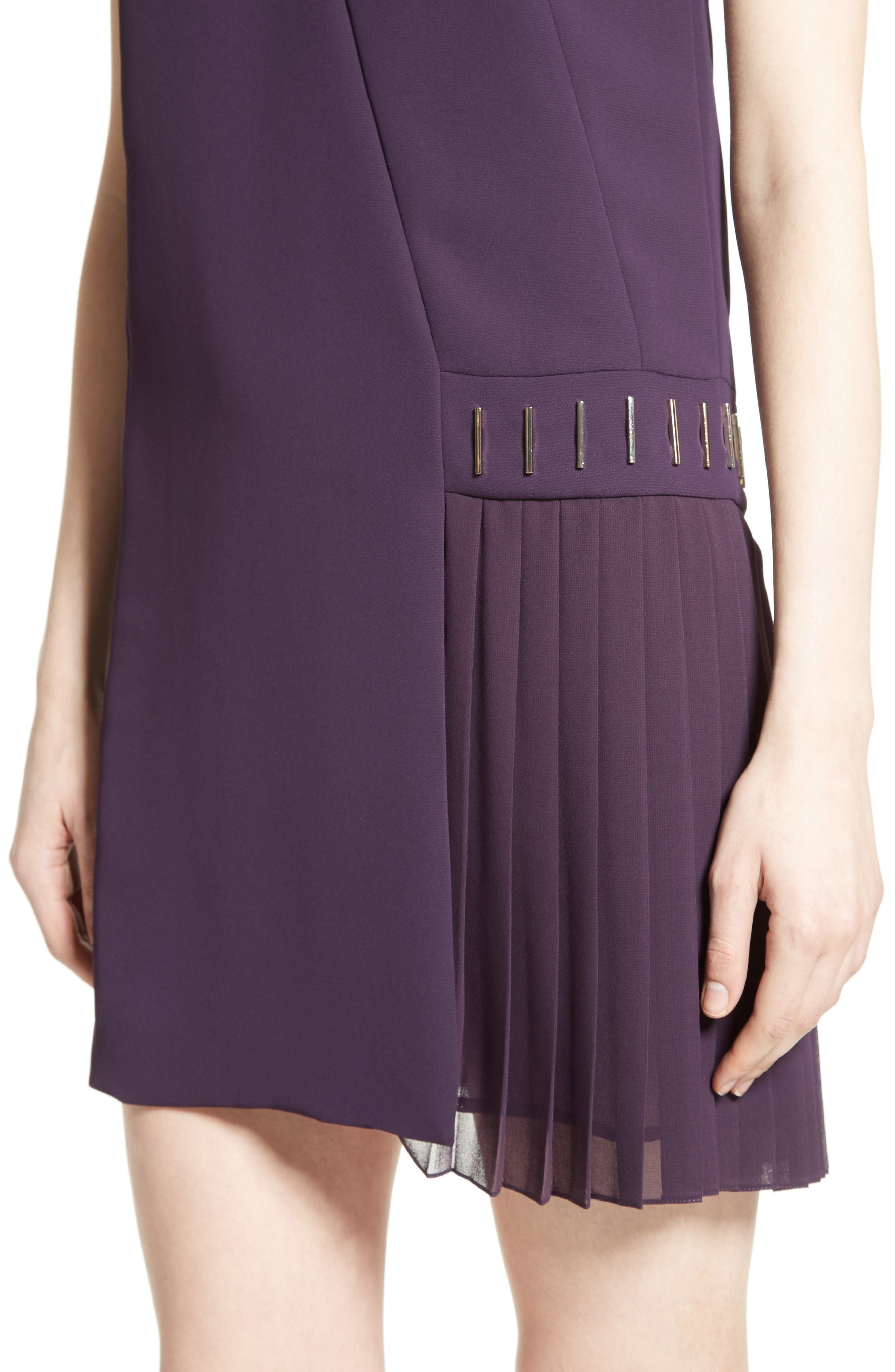Alternate Image 6  - Versace Collection Side Pleat Dress