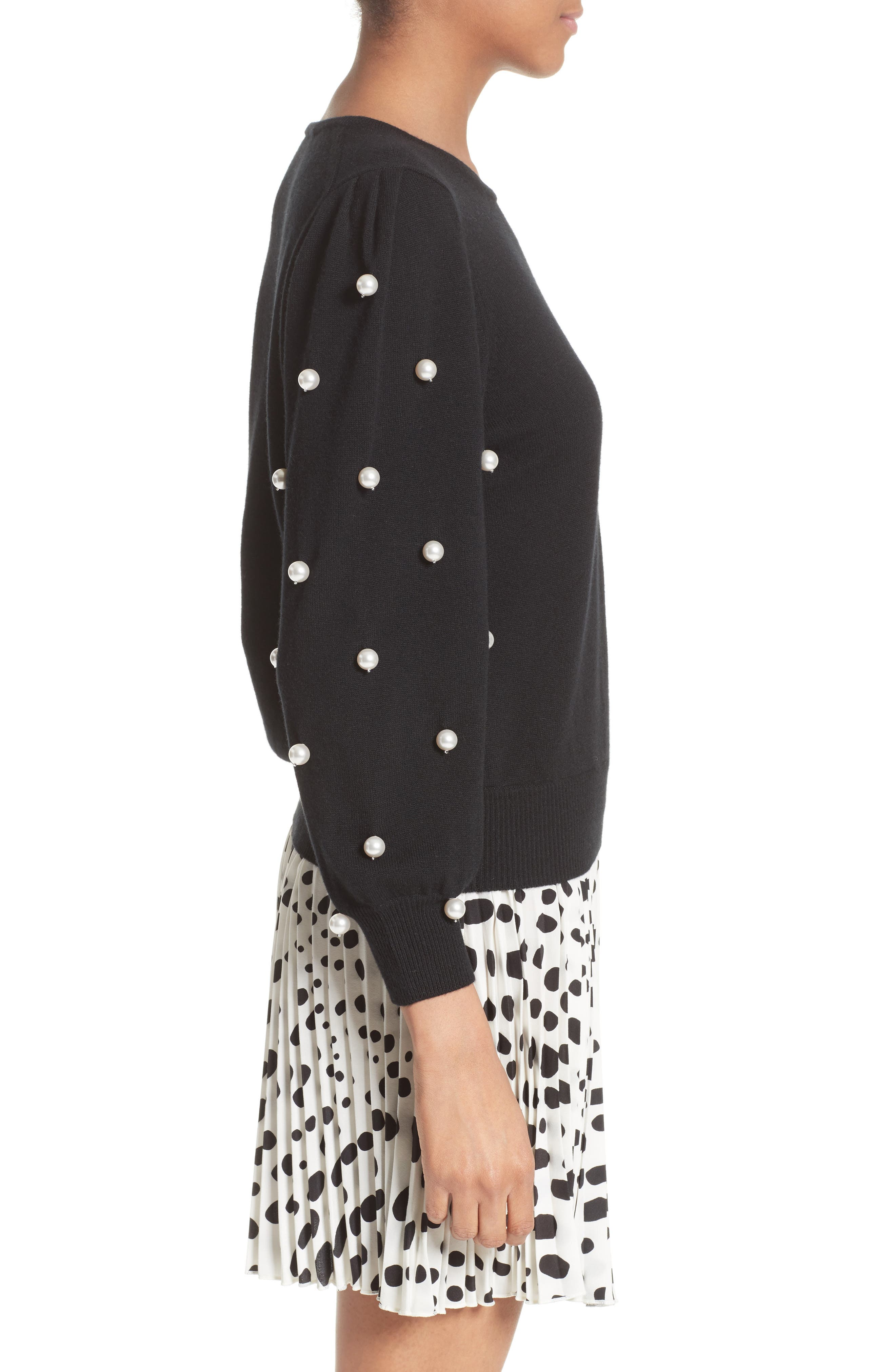 Alternate Image 5  - MARC JACOBS Imitation Pearl Embellished Wool & Cashmere Sweater