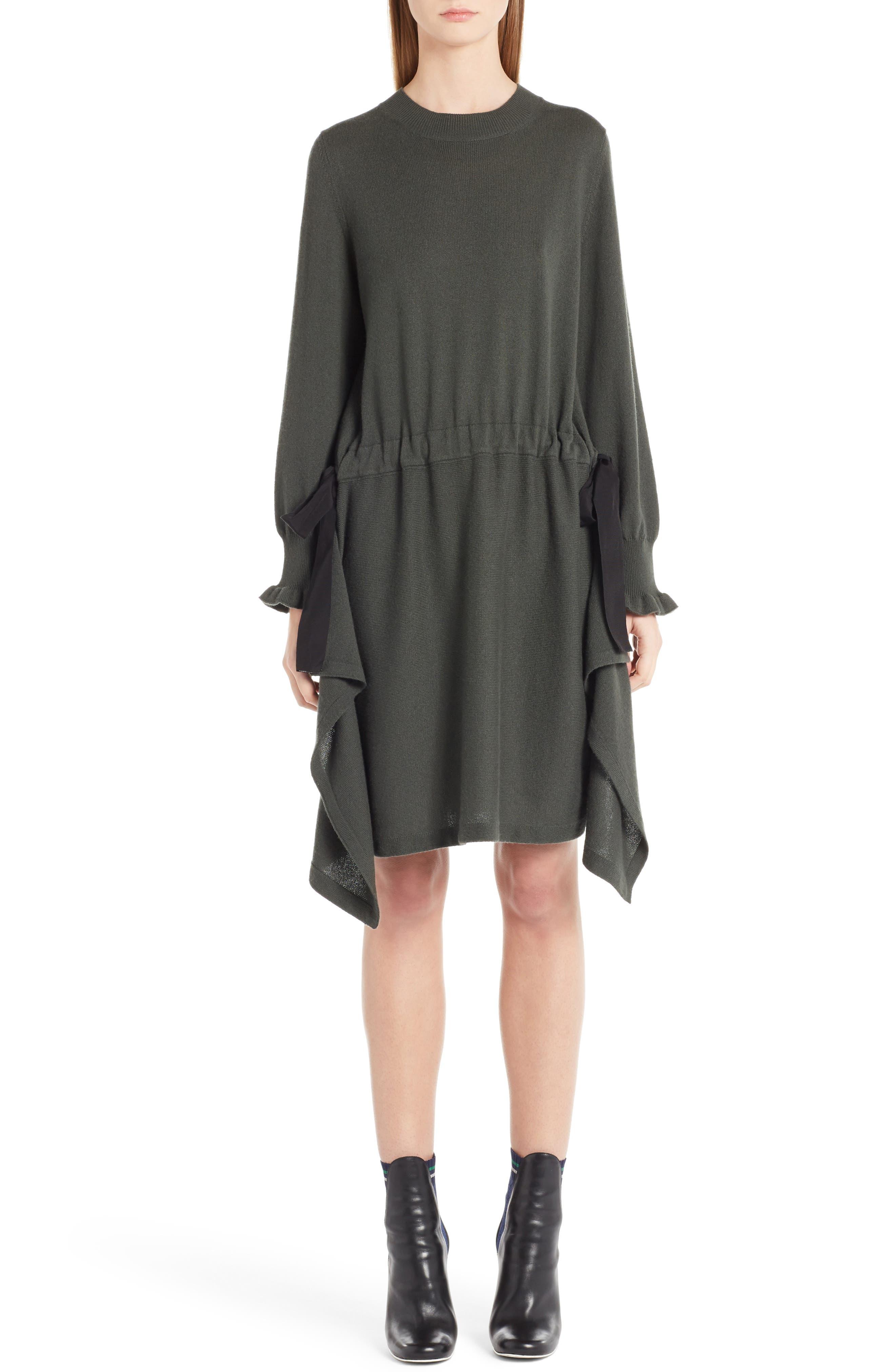 Fendi Cashmere Cascade Cashmere Knit Dress