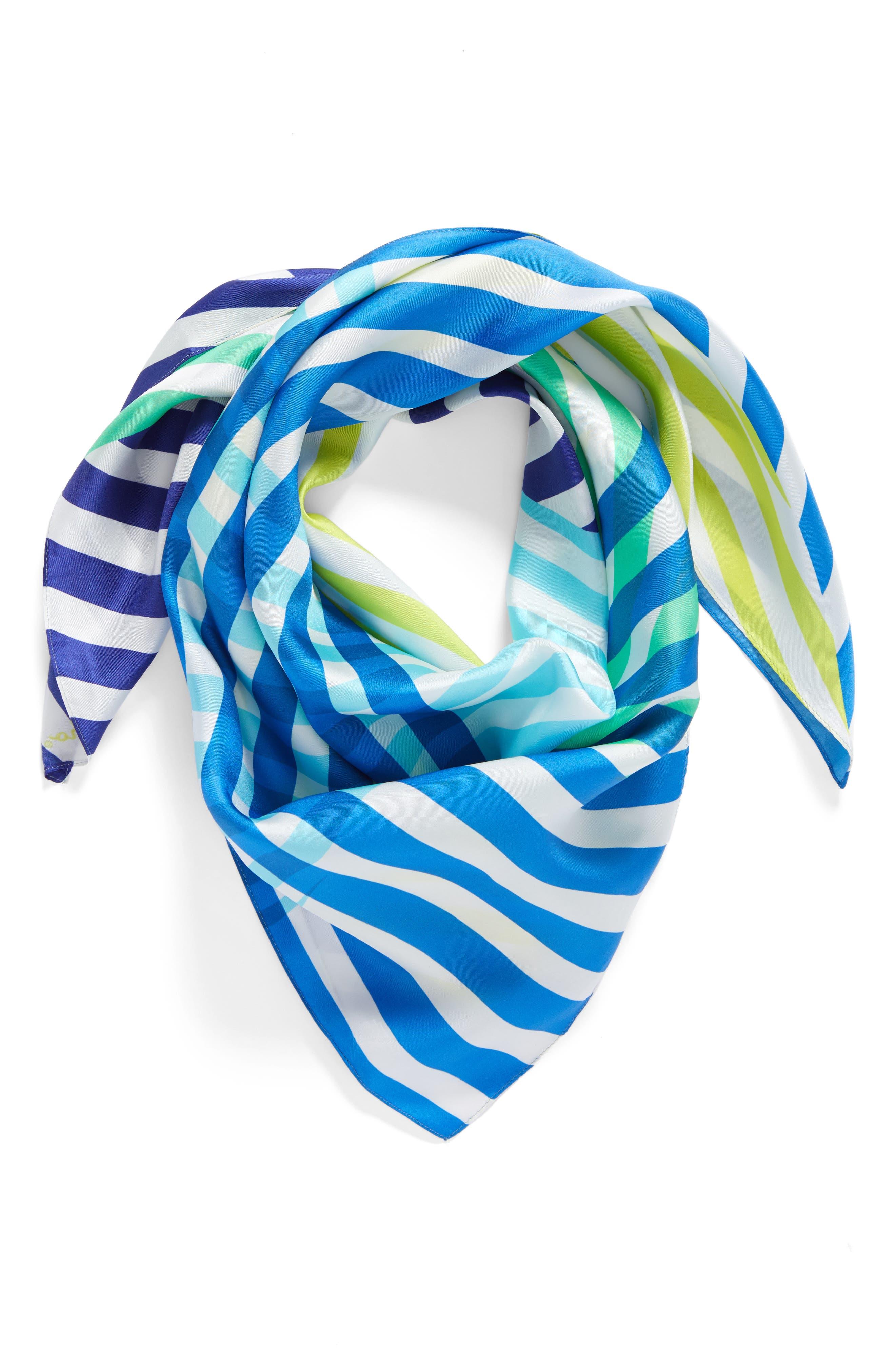 Main Image - Echo Cambon Stripe Silk Square Scarf