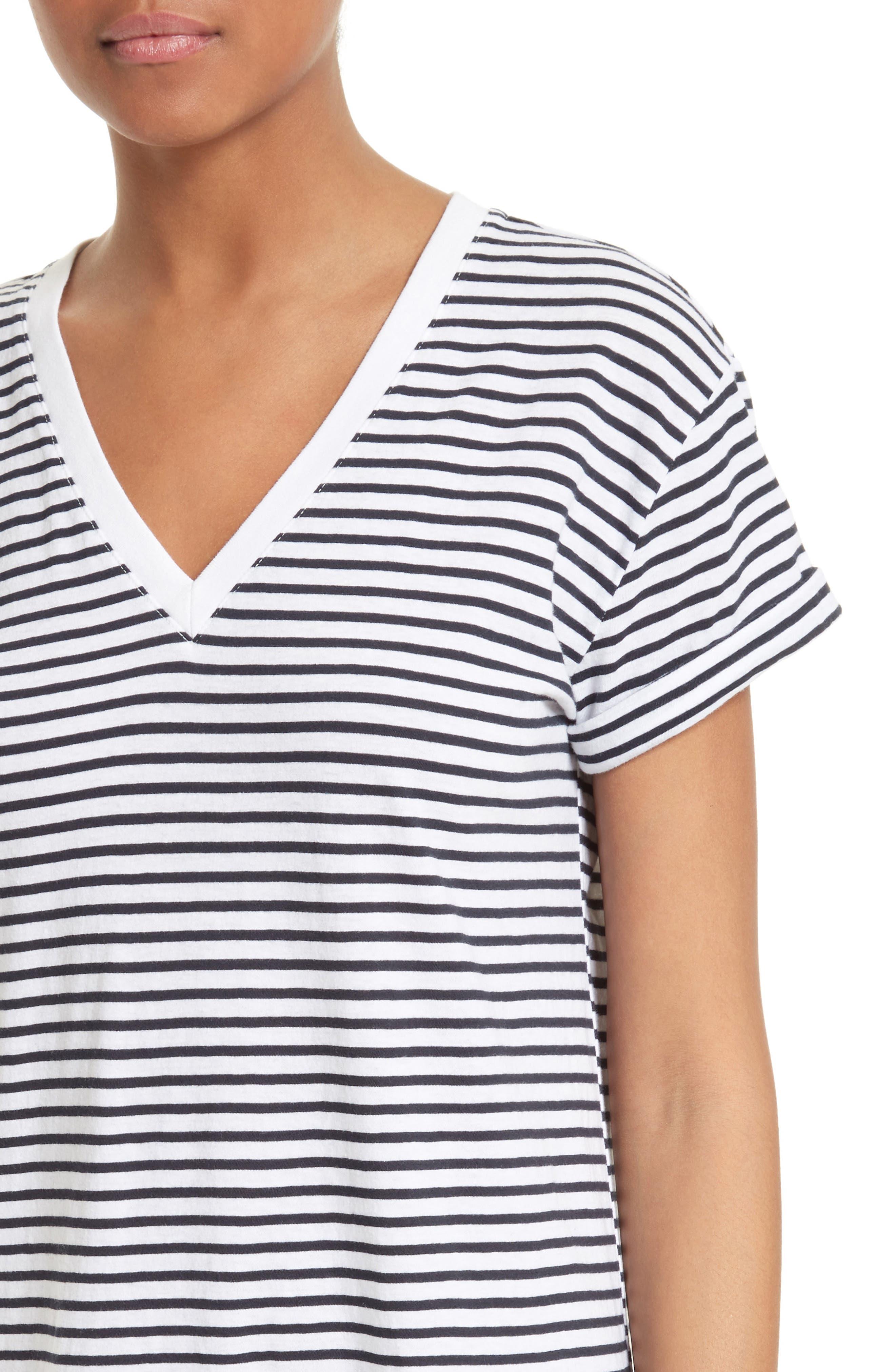 Alternate Image 4  - T by Alexander Wang Stripe T-Shirt Dress