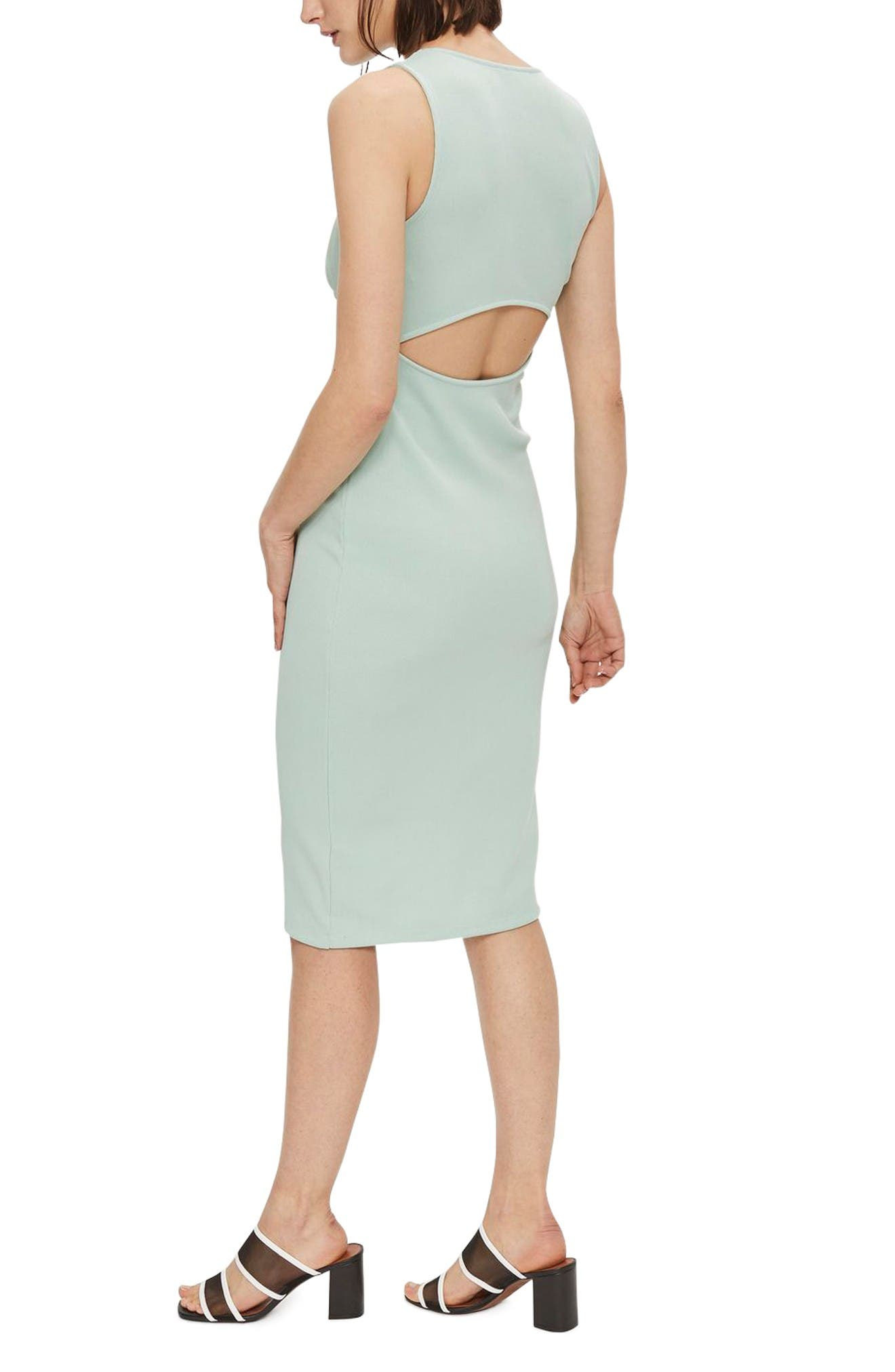 Alternate Image 2  - Topshop Cutout Ribbed Body-Con Dress