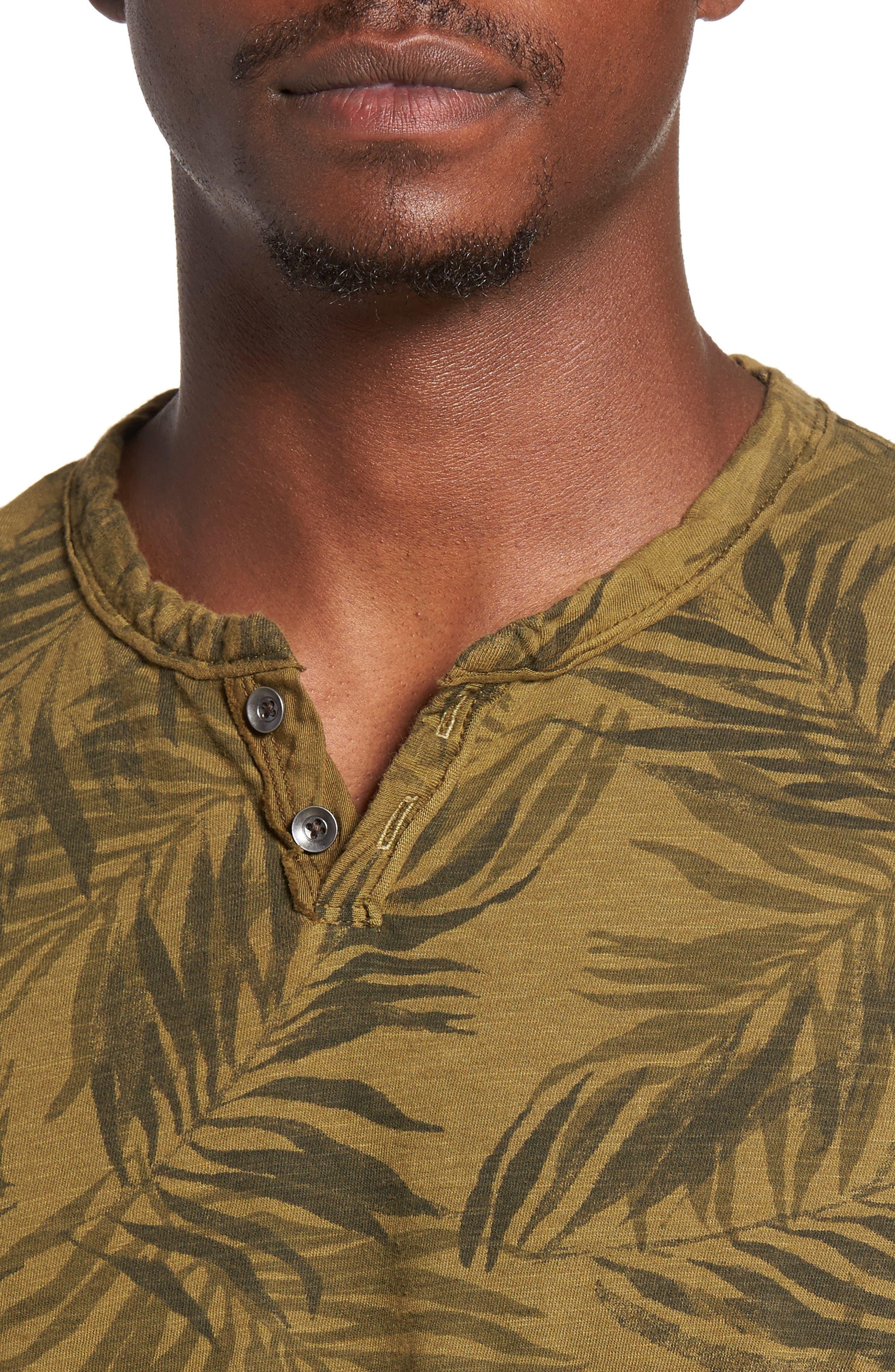 Alternate Image 4  - Lucky Brand Palm Print Notch T-Shirt