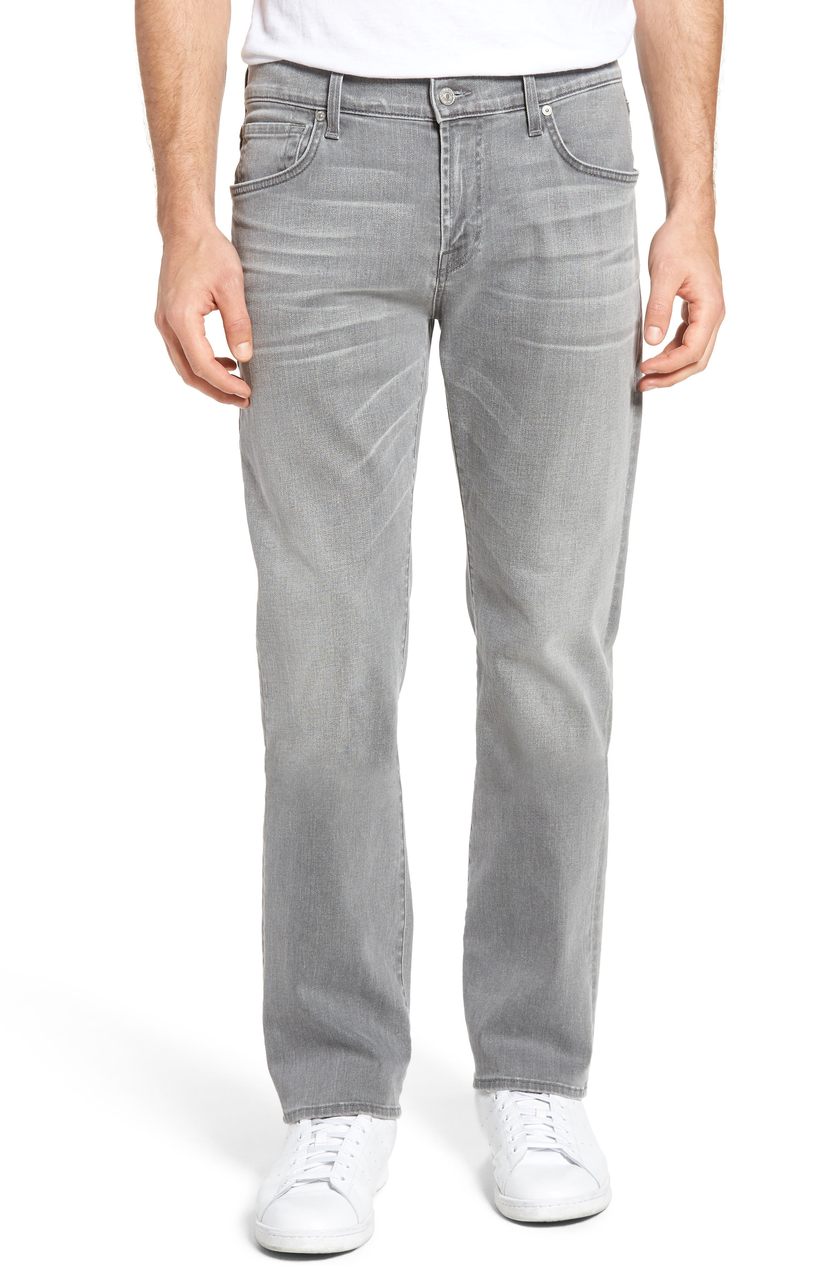 7 For All Mankind® The Straight Slim Straight Leg Jeans (Avon Grey)