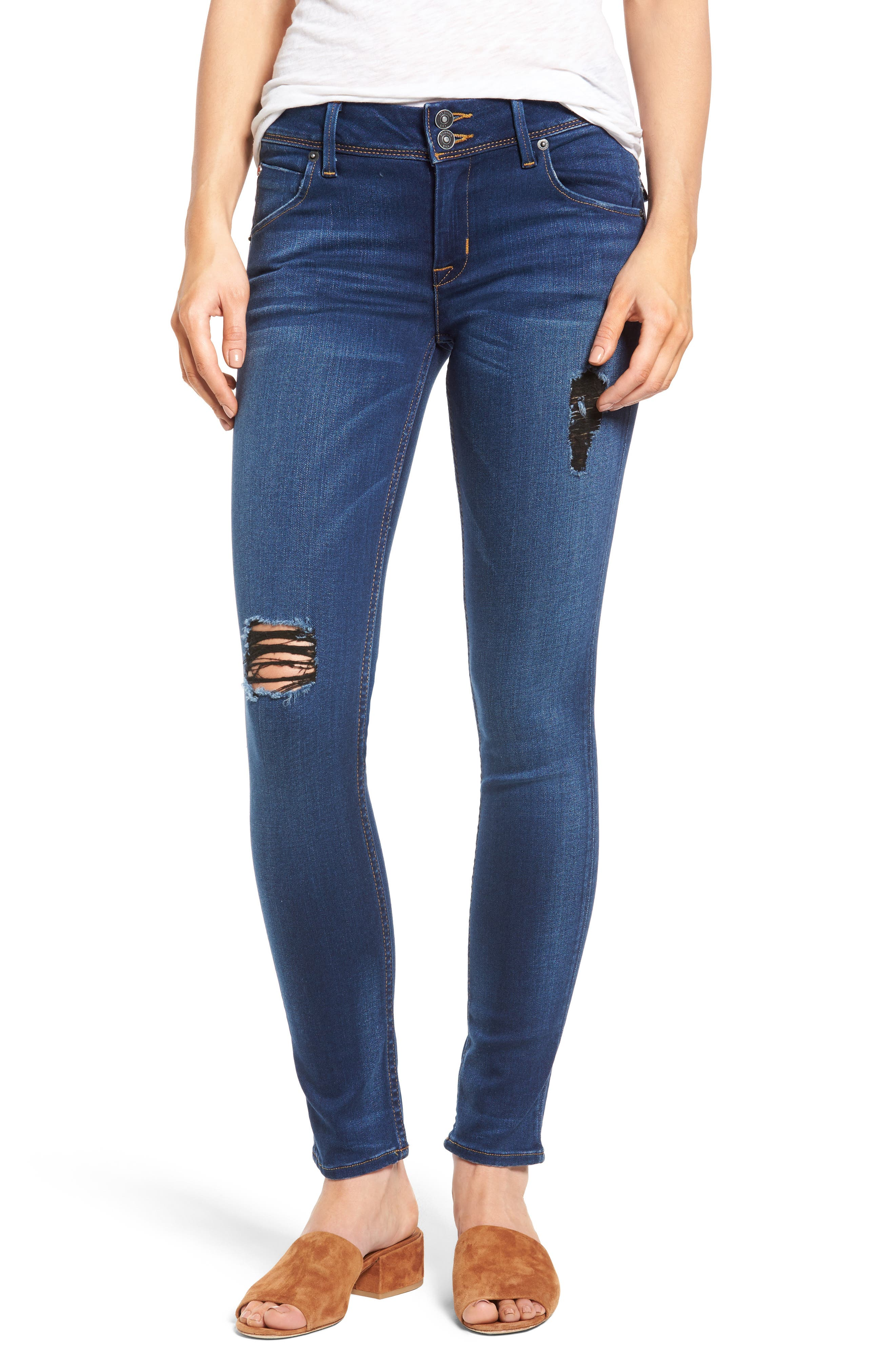 Alternate Image 1 Selected - Hudson Jeans 'Elysian - Collin' Mid Rise Skinny Jeans (Authentic)