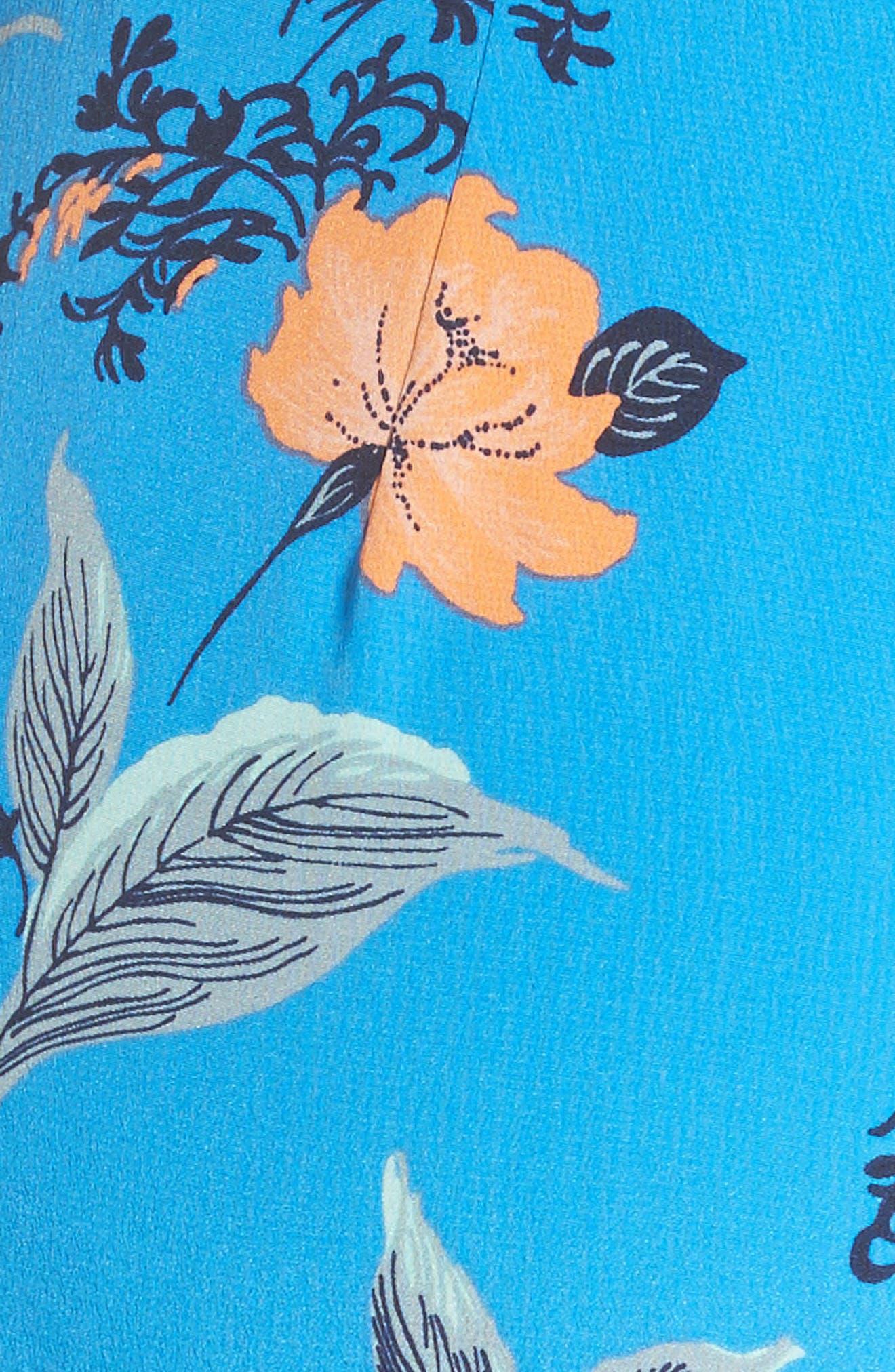 Alternate Image 5  - Diane von Furstenberg Halter Floral Suit Jumpsuit