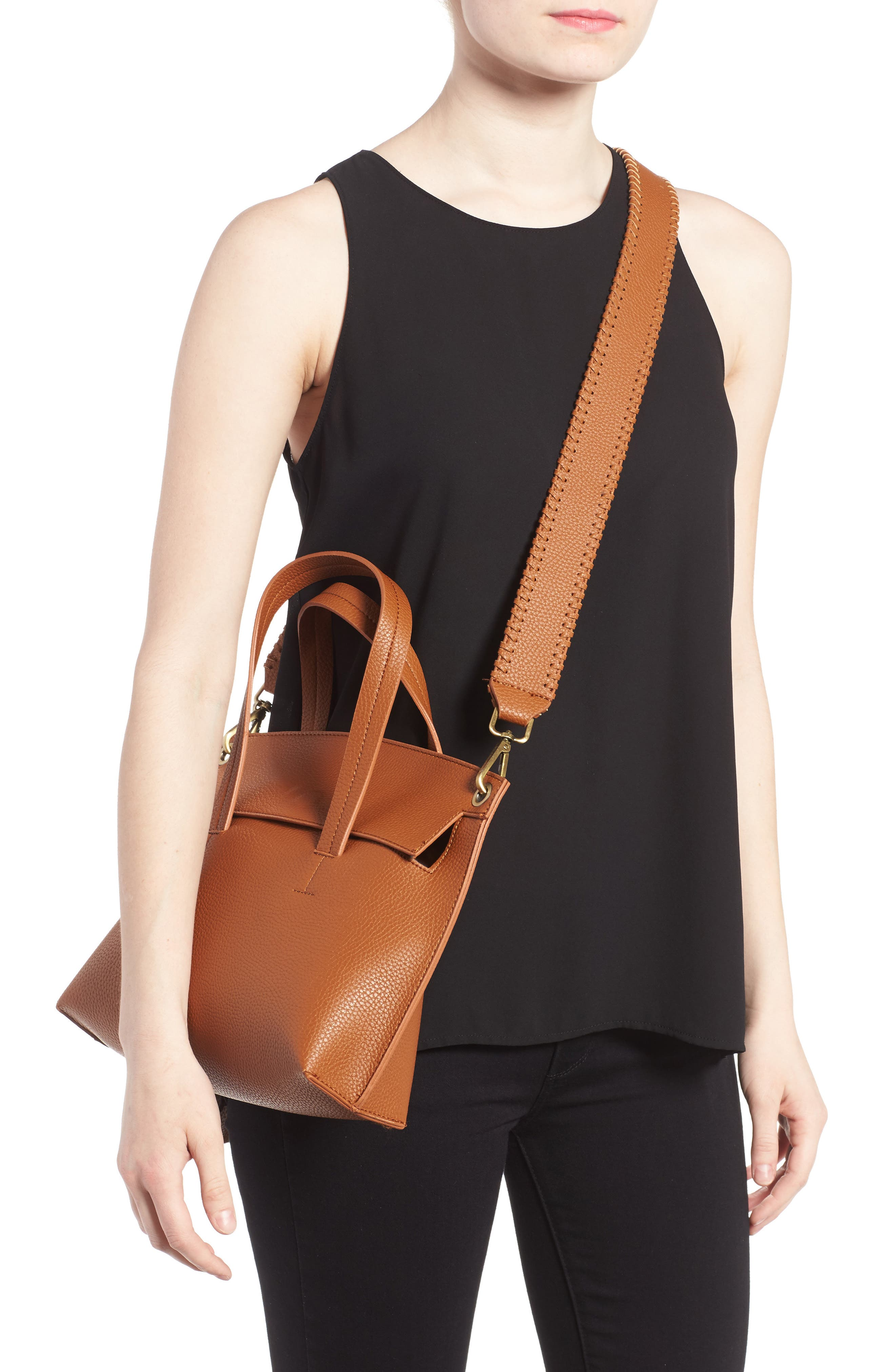 Alternate Image 2  - Street Level Faux Leather Crossbody Bag