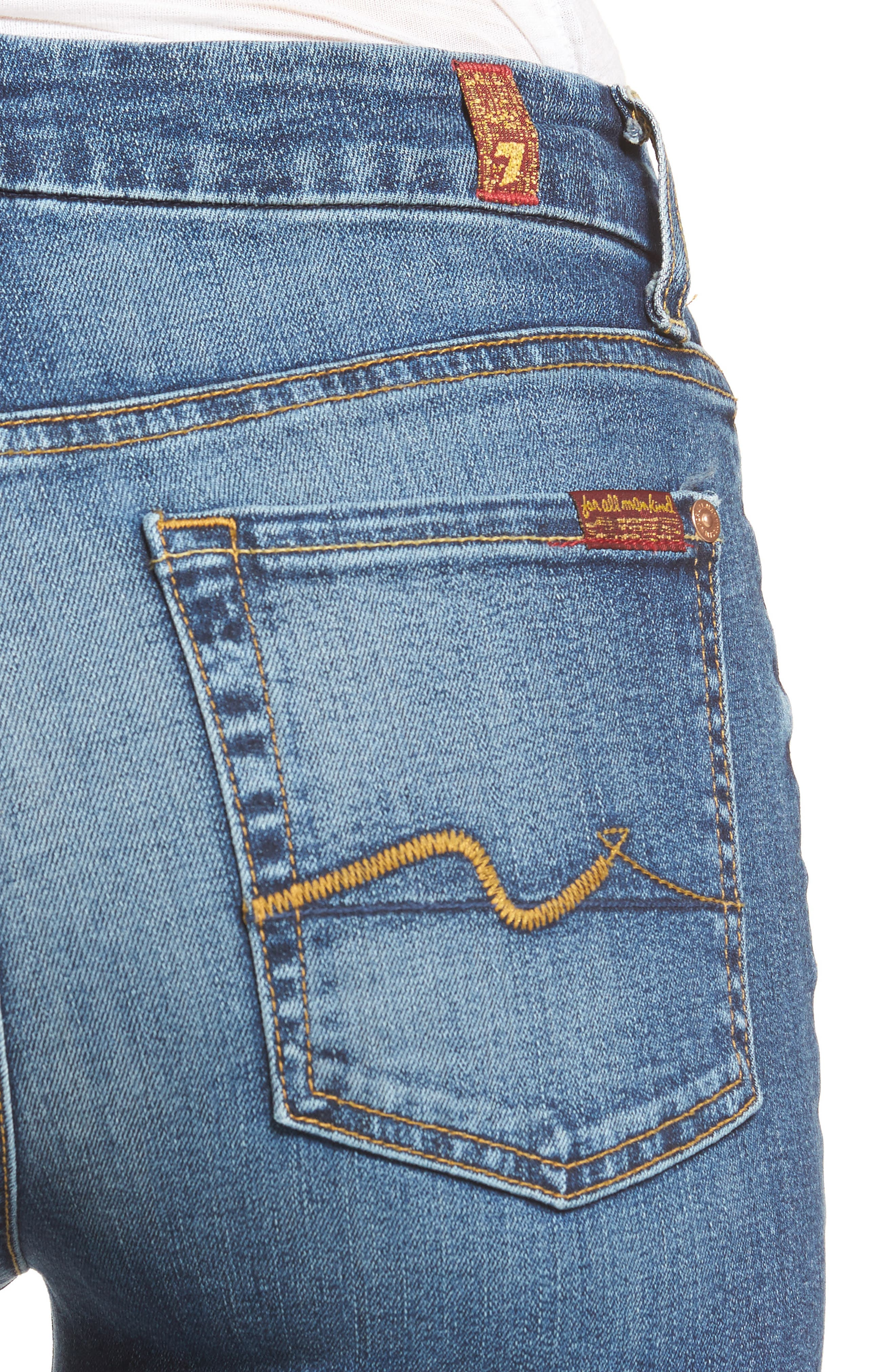 Alternate Image 4  - 7 For All Mankind® 'Kimmie' Straight Leg Jeans (Seratoga Bay)