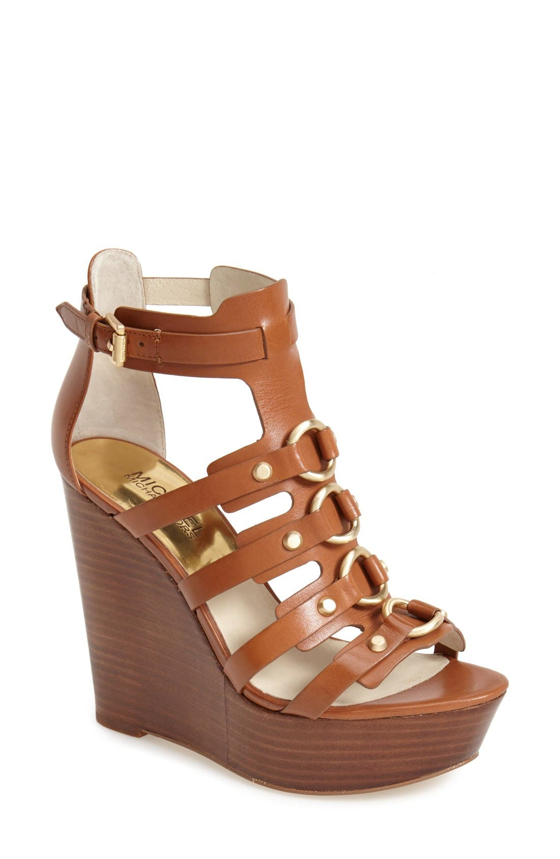 Alternate Image 1 Selected - MICHAEL Michael Kors 'Nadine' Platform Wedge Sandal (Women)