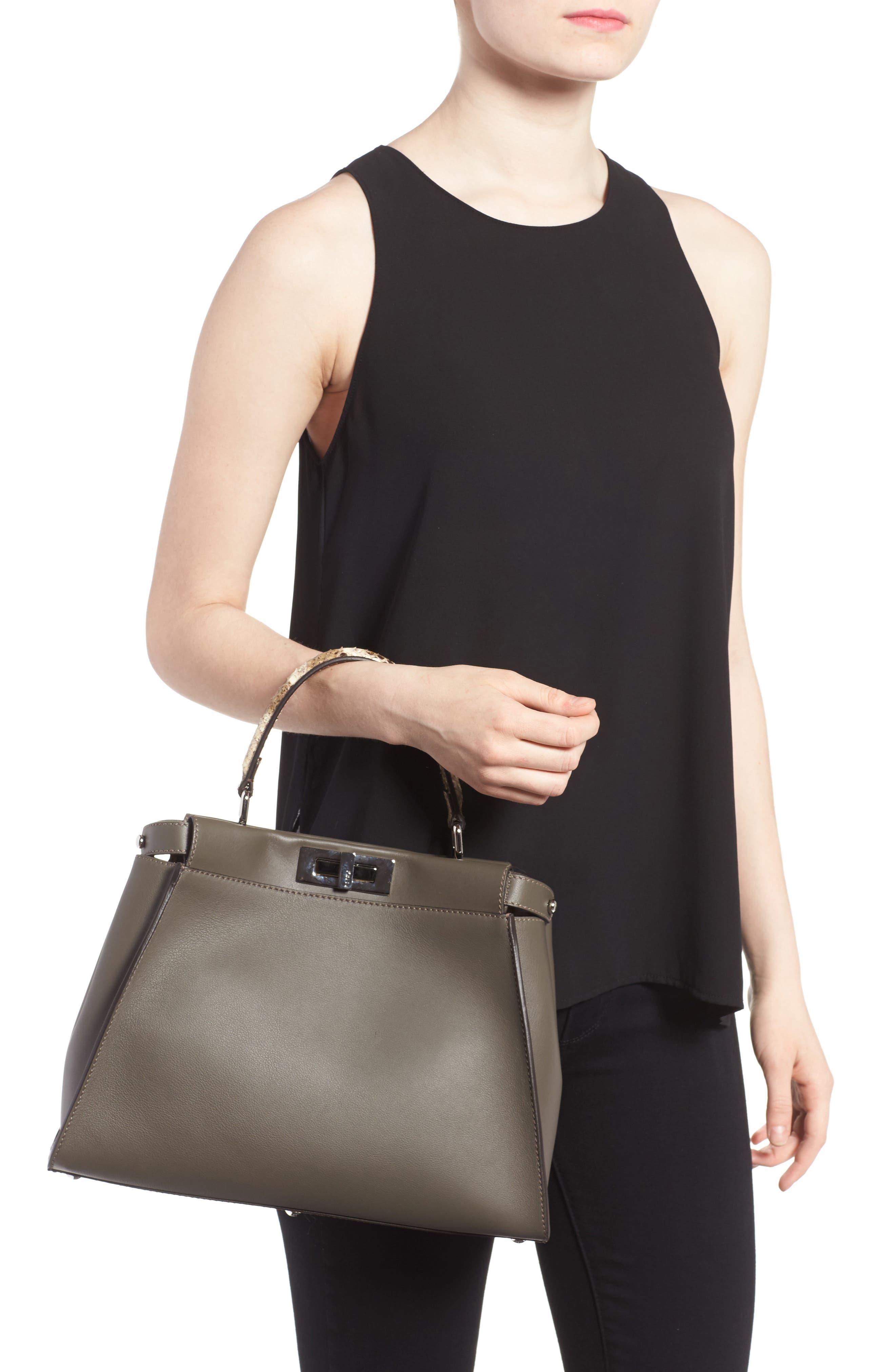Alternate Image 2  - Fendi Peekaboo Calfskin Leather & Genuine Python Satchel