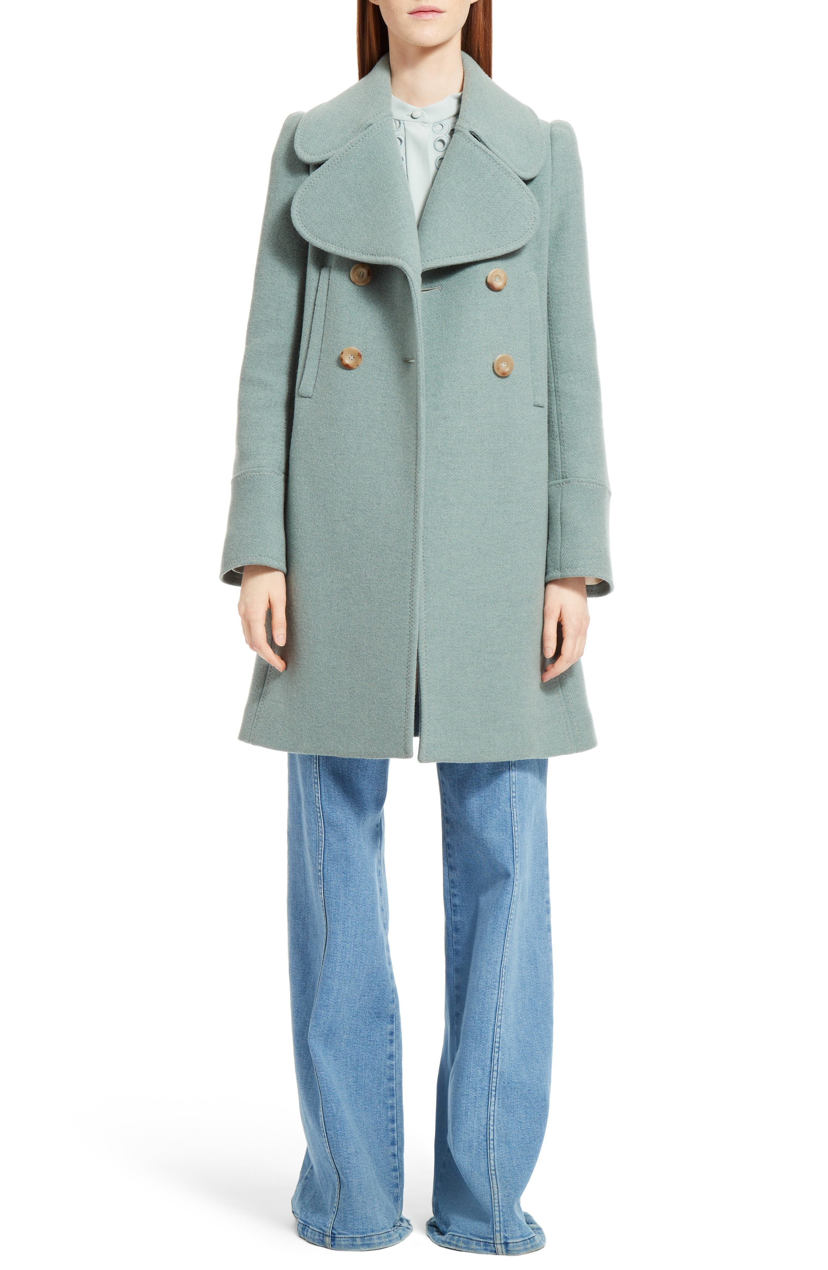 Alternate Image 6  - Chloé Iconic Wool Blend Coat