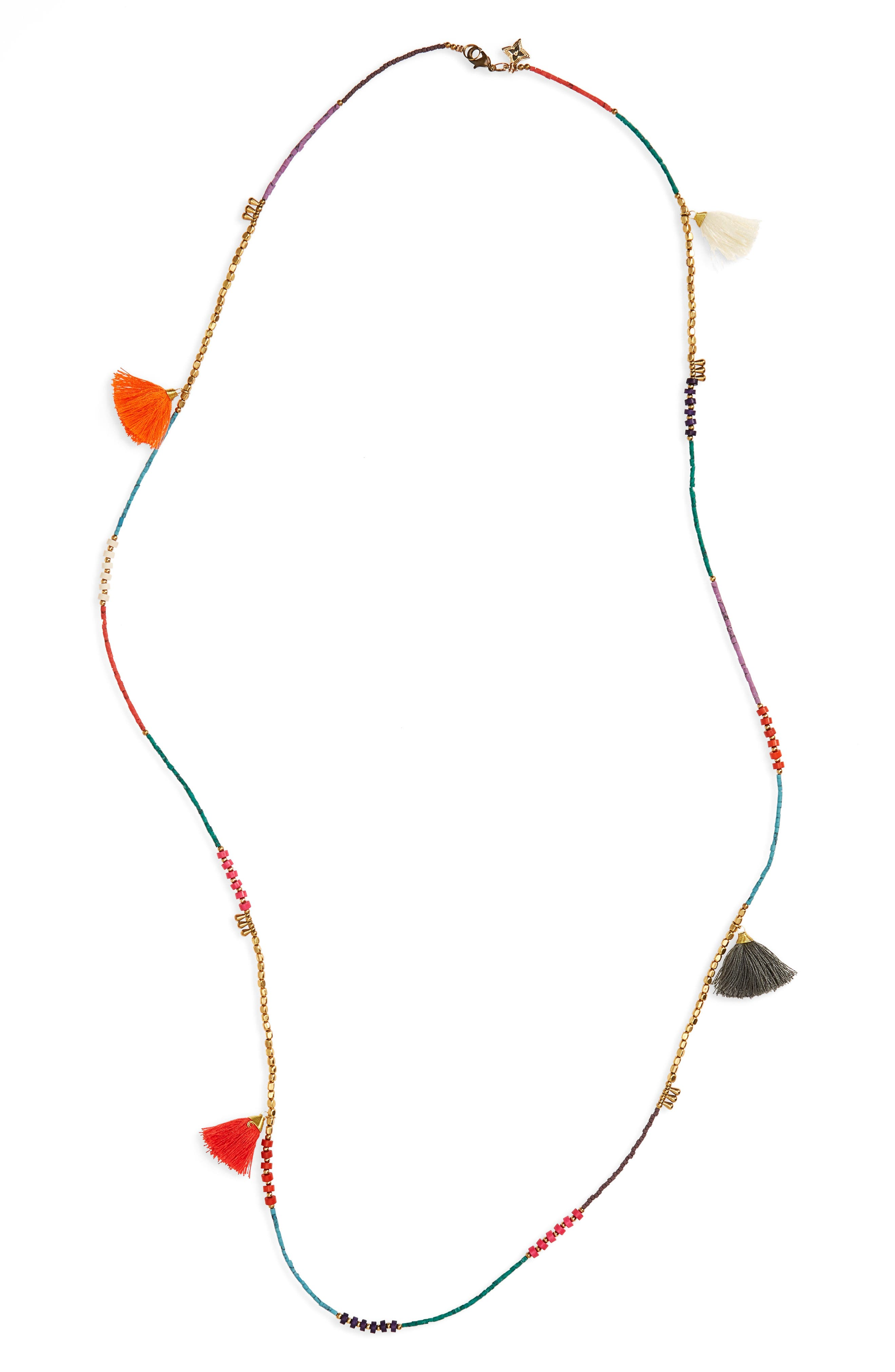 Panacea Tassel Beaded Necklace