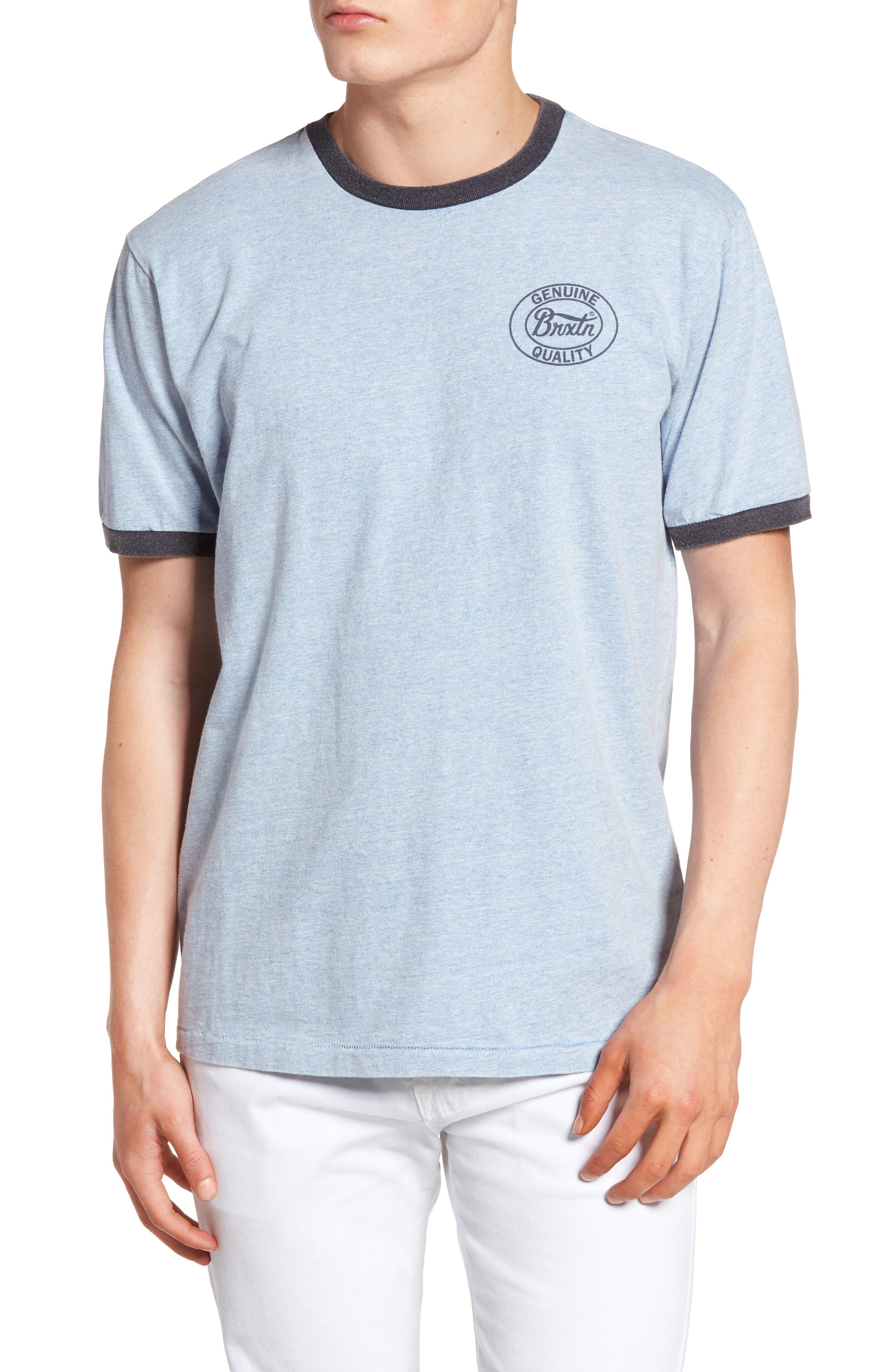 Brixton Merced Ringer Logo T-Shirt