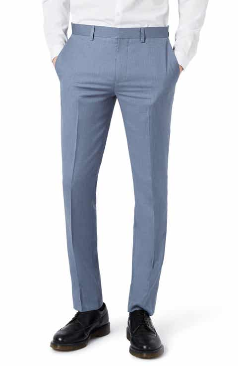 Topman Skinny Fit Crosshatch Trousers