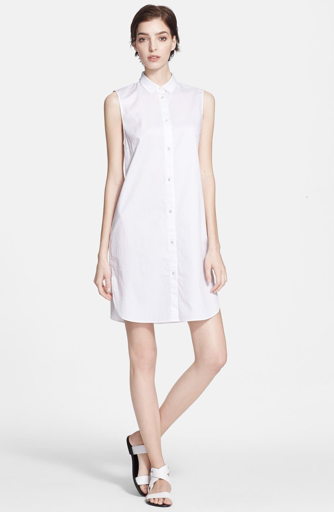 Alternate Image 1 Selected - T by Alexander Wang Cotton Poplin Shirtdress