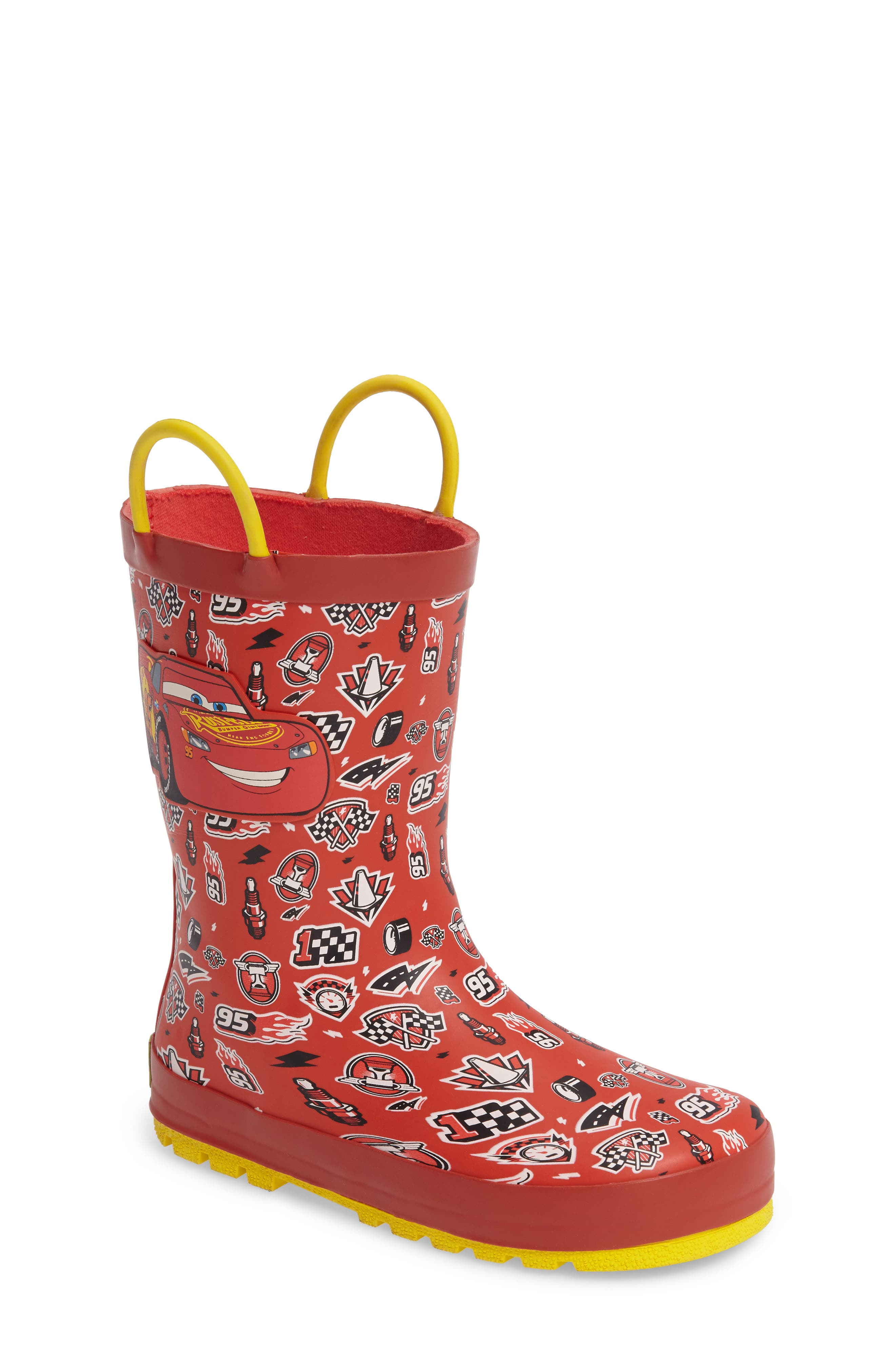 Western Chief Cars® Lightning Fast Waterproof Rain Boot (Walker, Toddler, Little Kid & Big Kid)