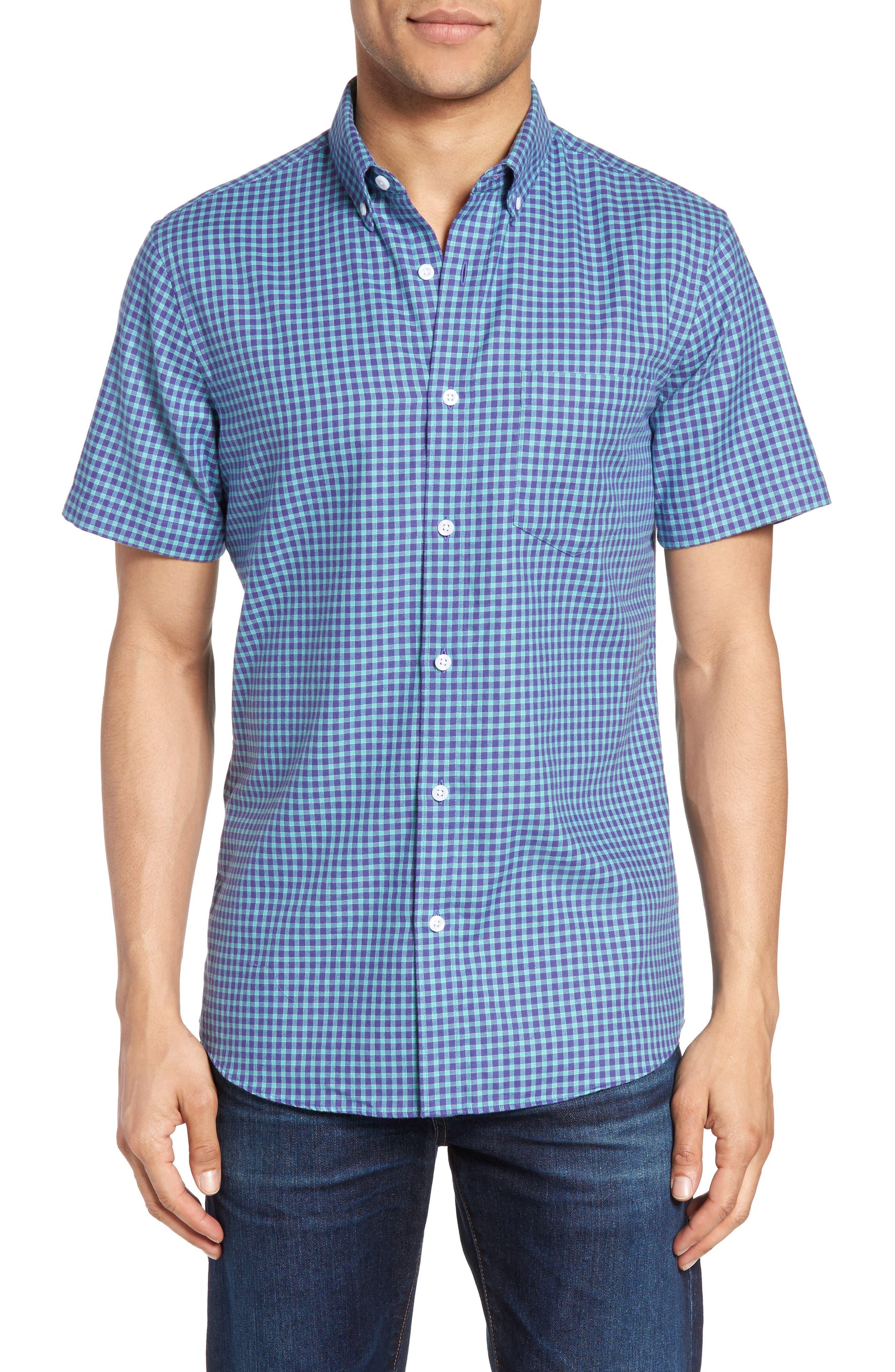 Nordstrom Men's Shop Slim Fit Check Sport Shirt