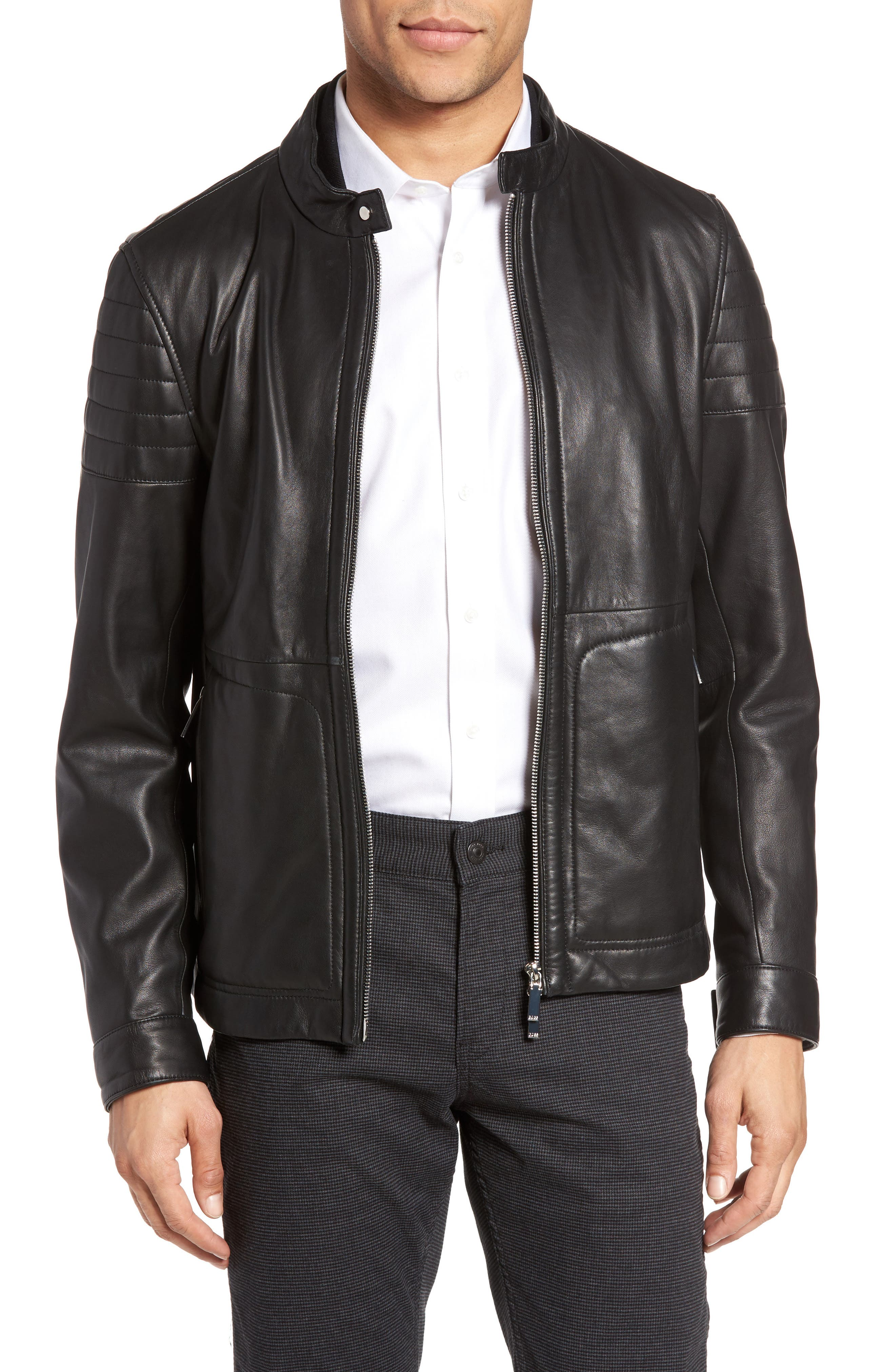 BOSS Gavus Leather Jacket
