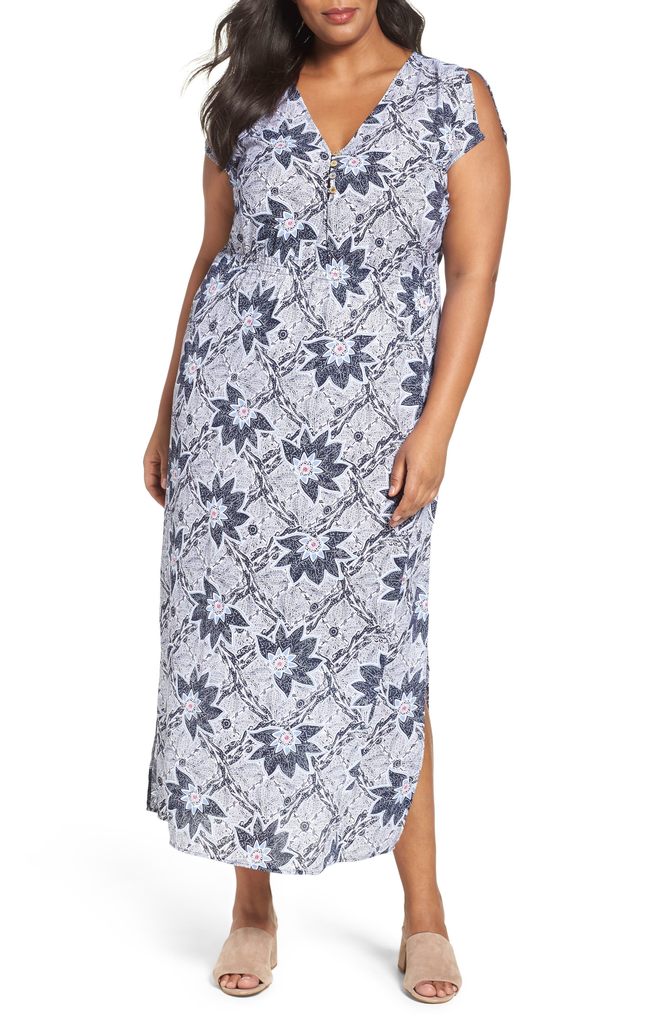 Foxcroft Taryn Maxi Dress (Plus Size)