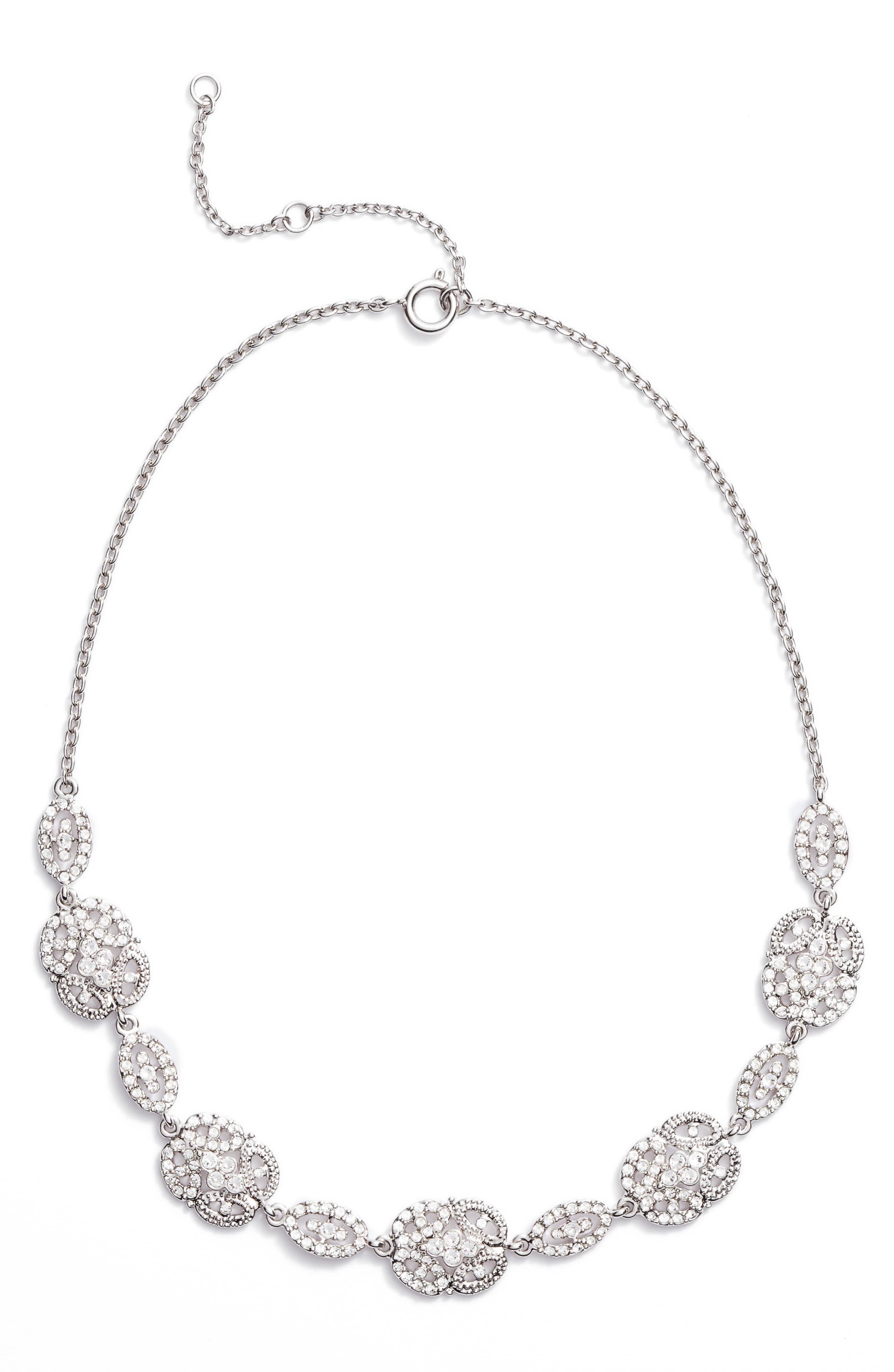 Nina Ayda Pavé Frontal Necklace