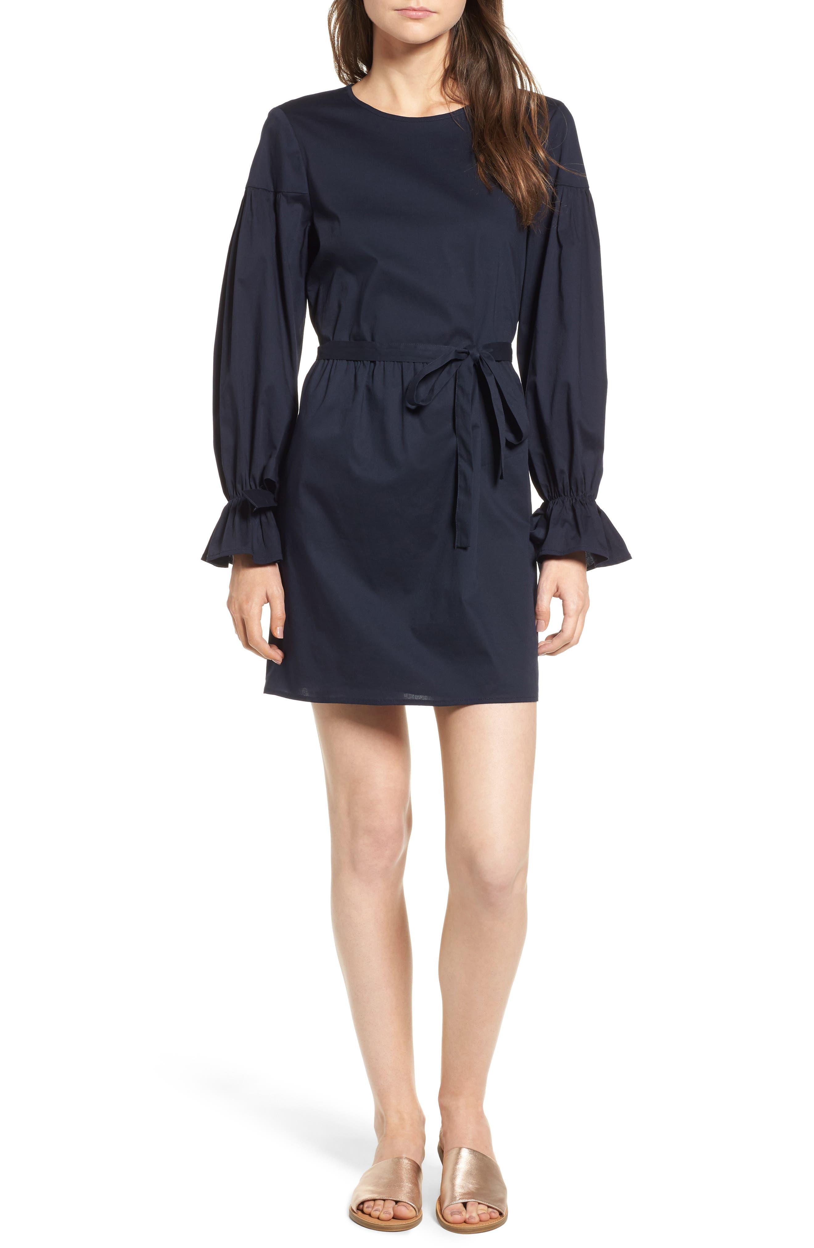 WAYF Jeane Bell Sleeve Poplin Dress