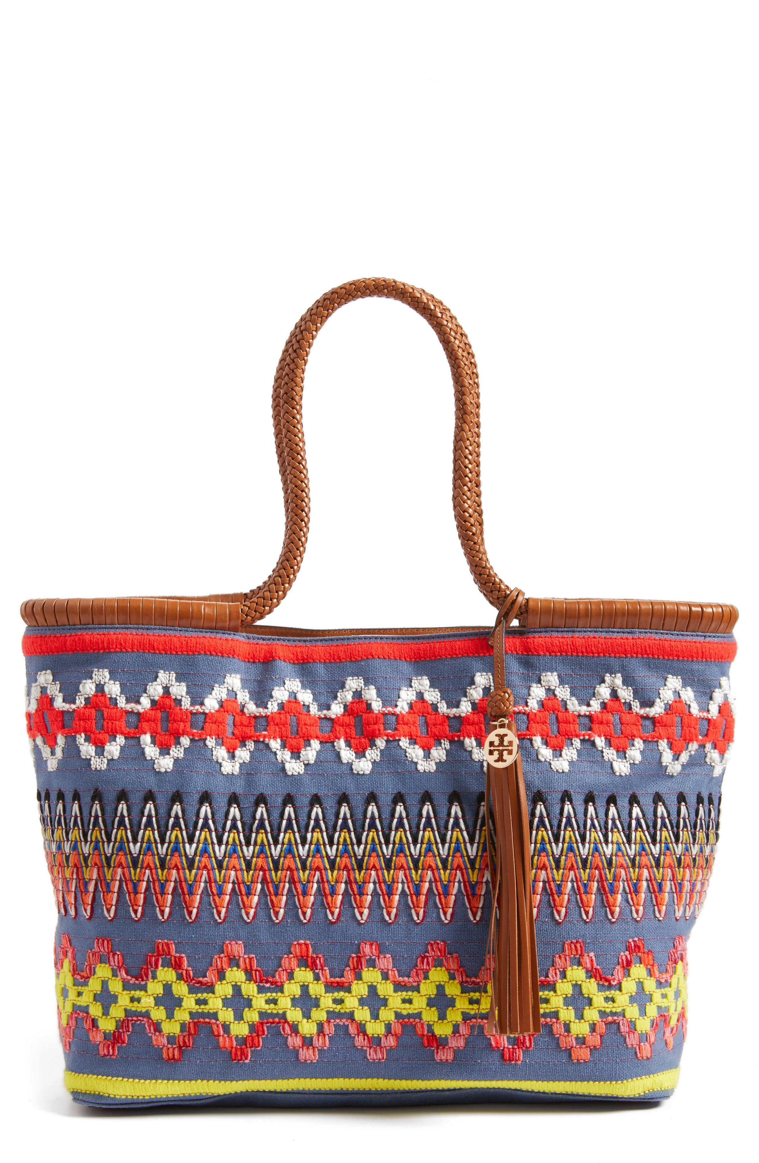 Tory Burch Embroidered Tote