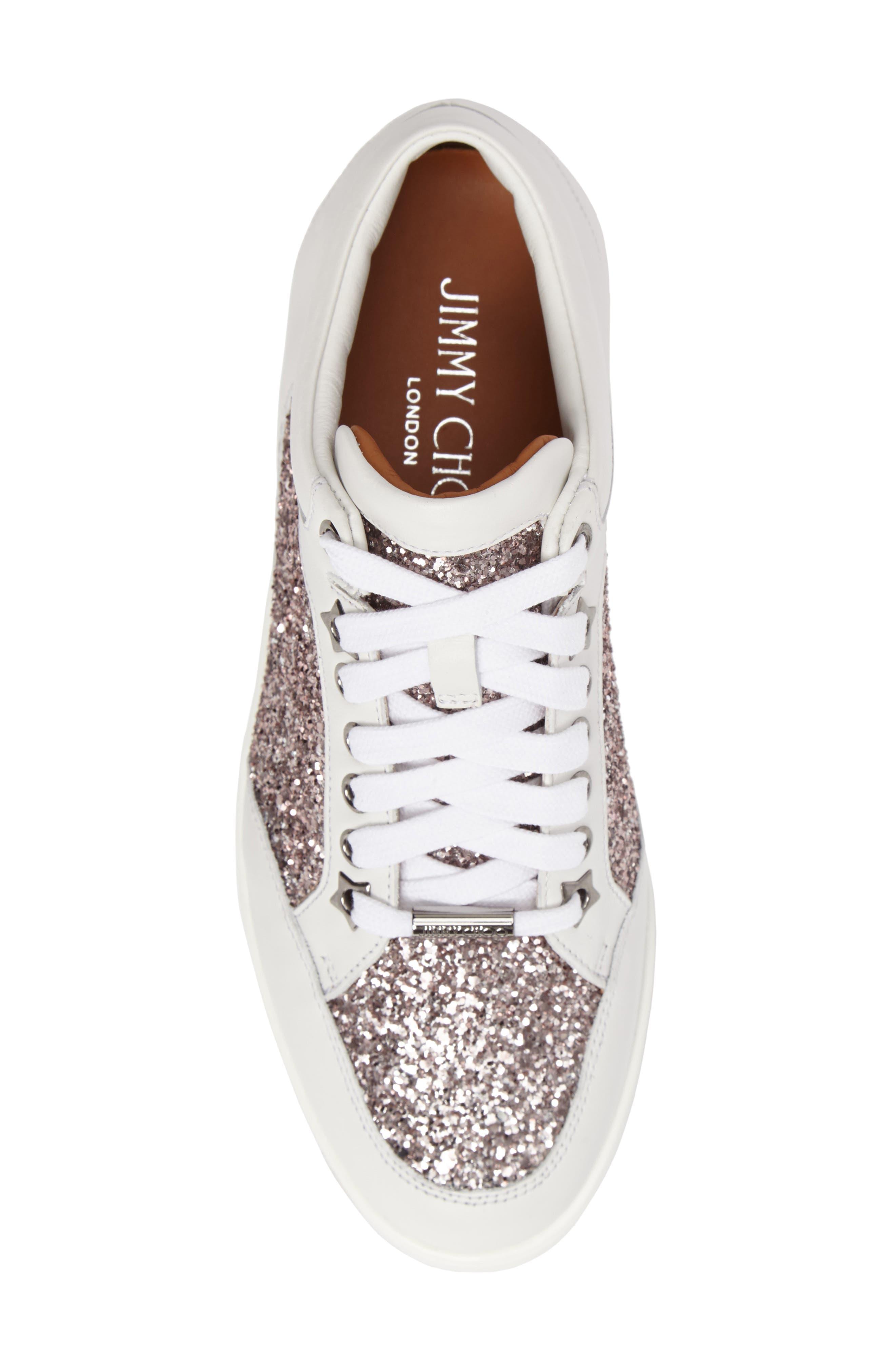 Alternate Image 5  - Jimmy Choo Miami Glitter Sneaker (Women)