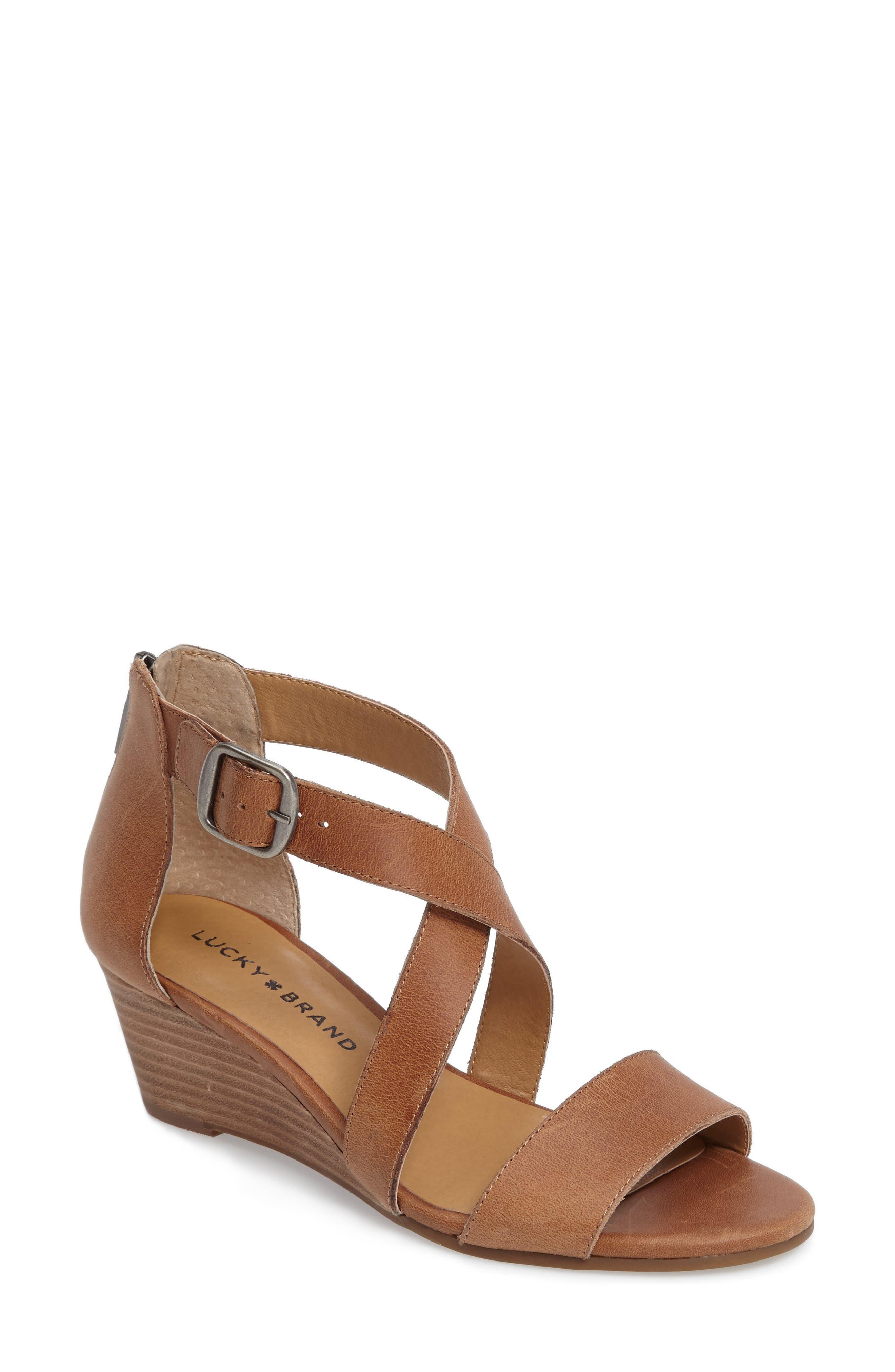 Alternate Image 1 Selected - Lucky Brand Jenley Wedge Sandal (Women)
