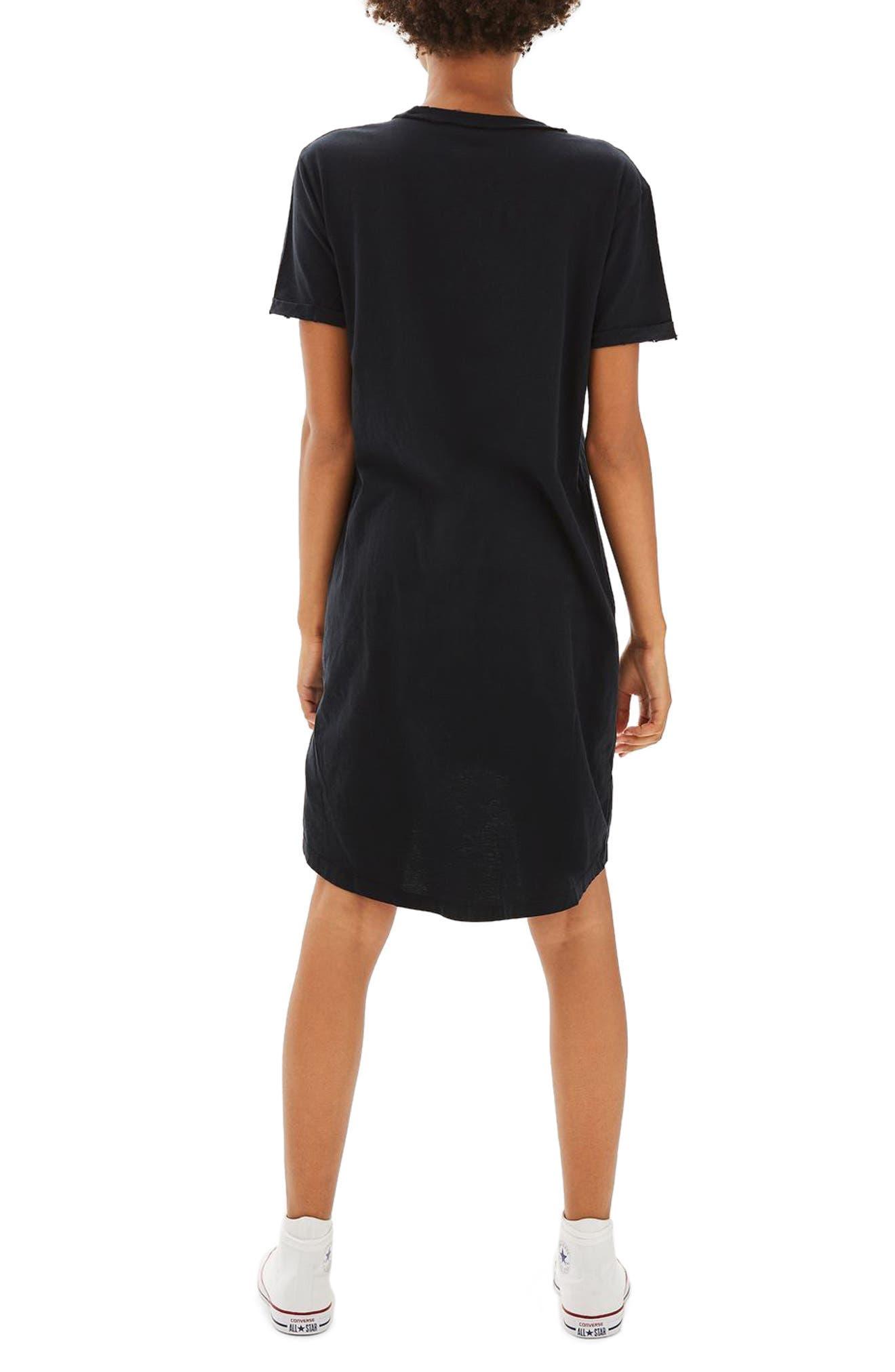 Alternate Image 3  - Topshop Split Neck T-Shirt Dress