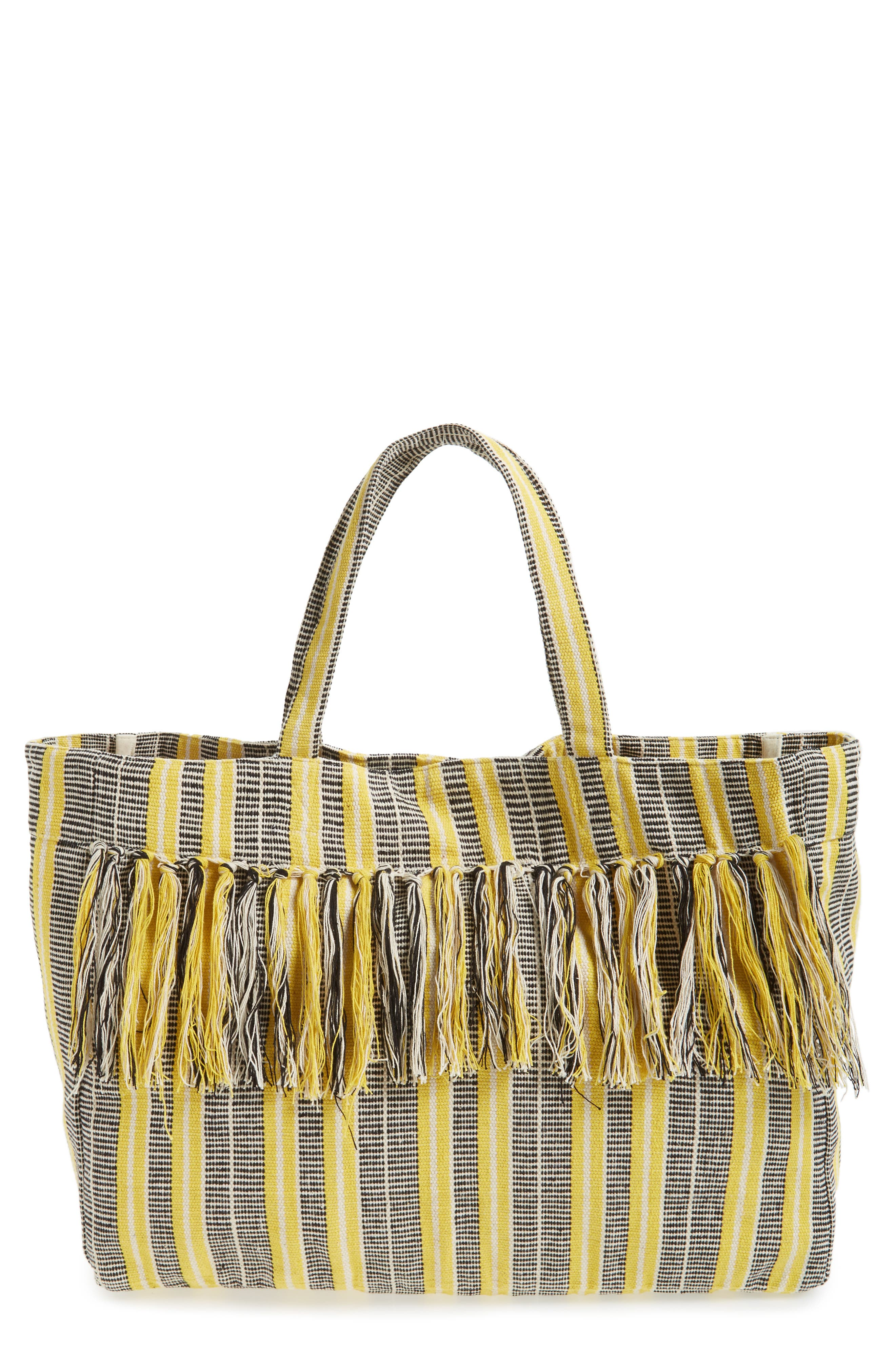 Sole Society Hendrix Stripe Canvas Tote